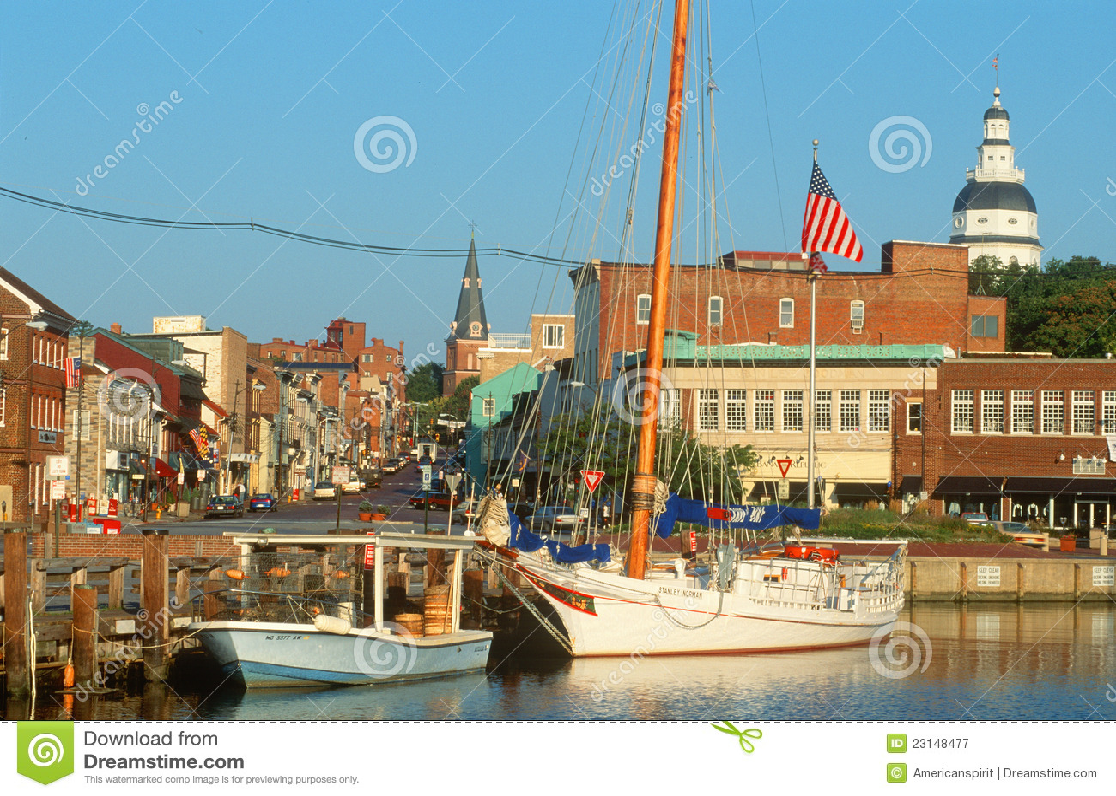 Jachthaven in Annapolis, M.D.