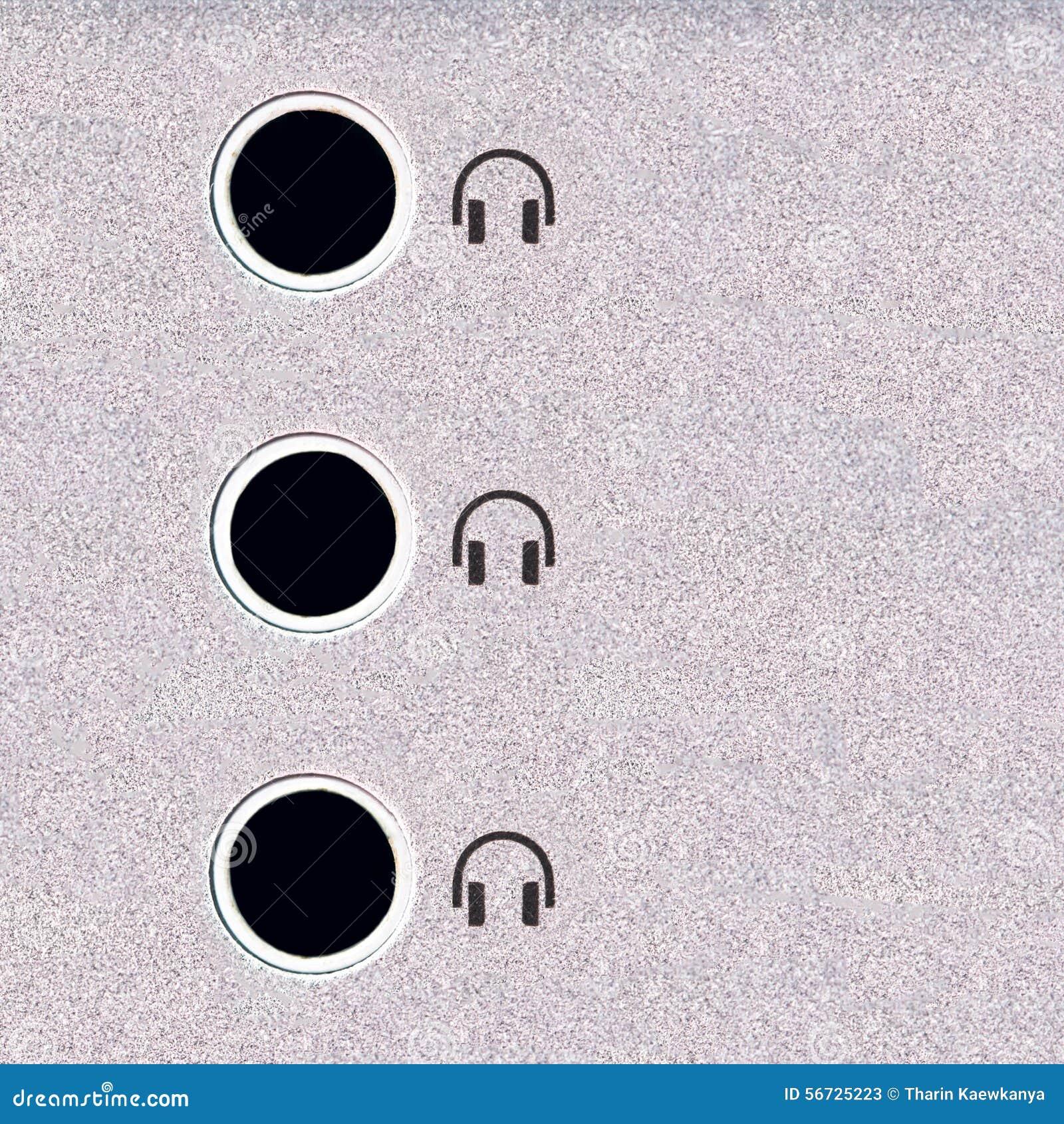 jack audio stock image  image of sound  computer  macro