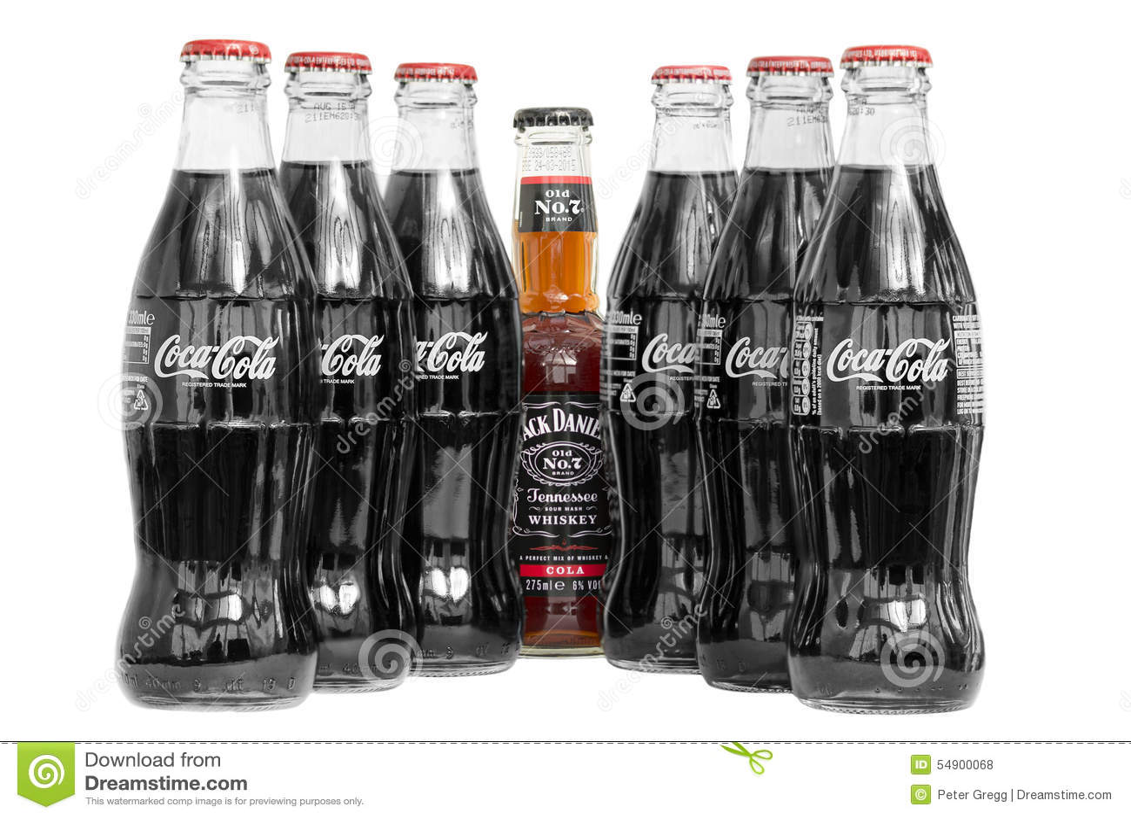 Jack Daniels and coke and coke bottles