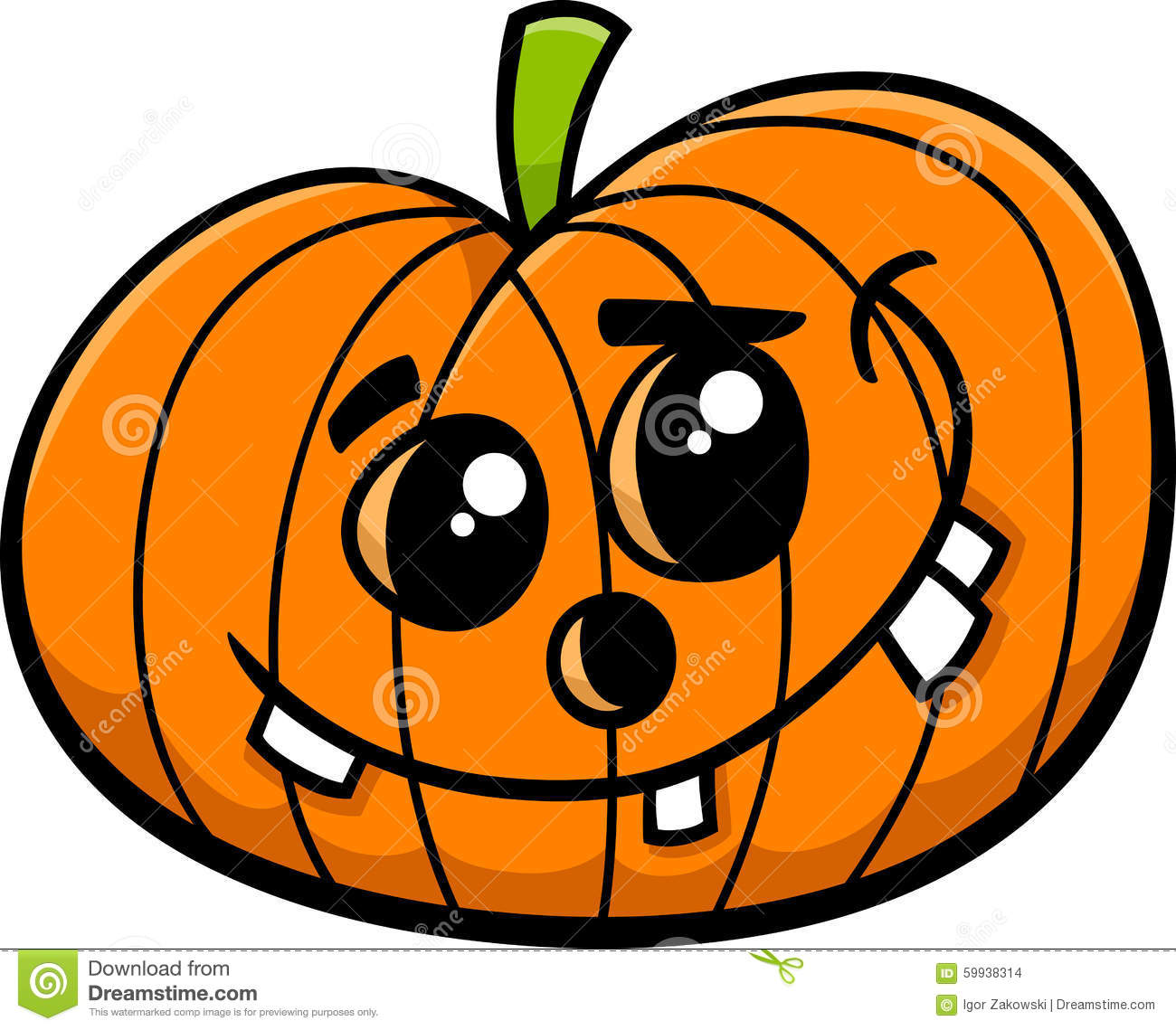 jack halloween pumpkin cartoon stock vector image 59938314