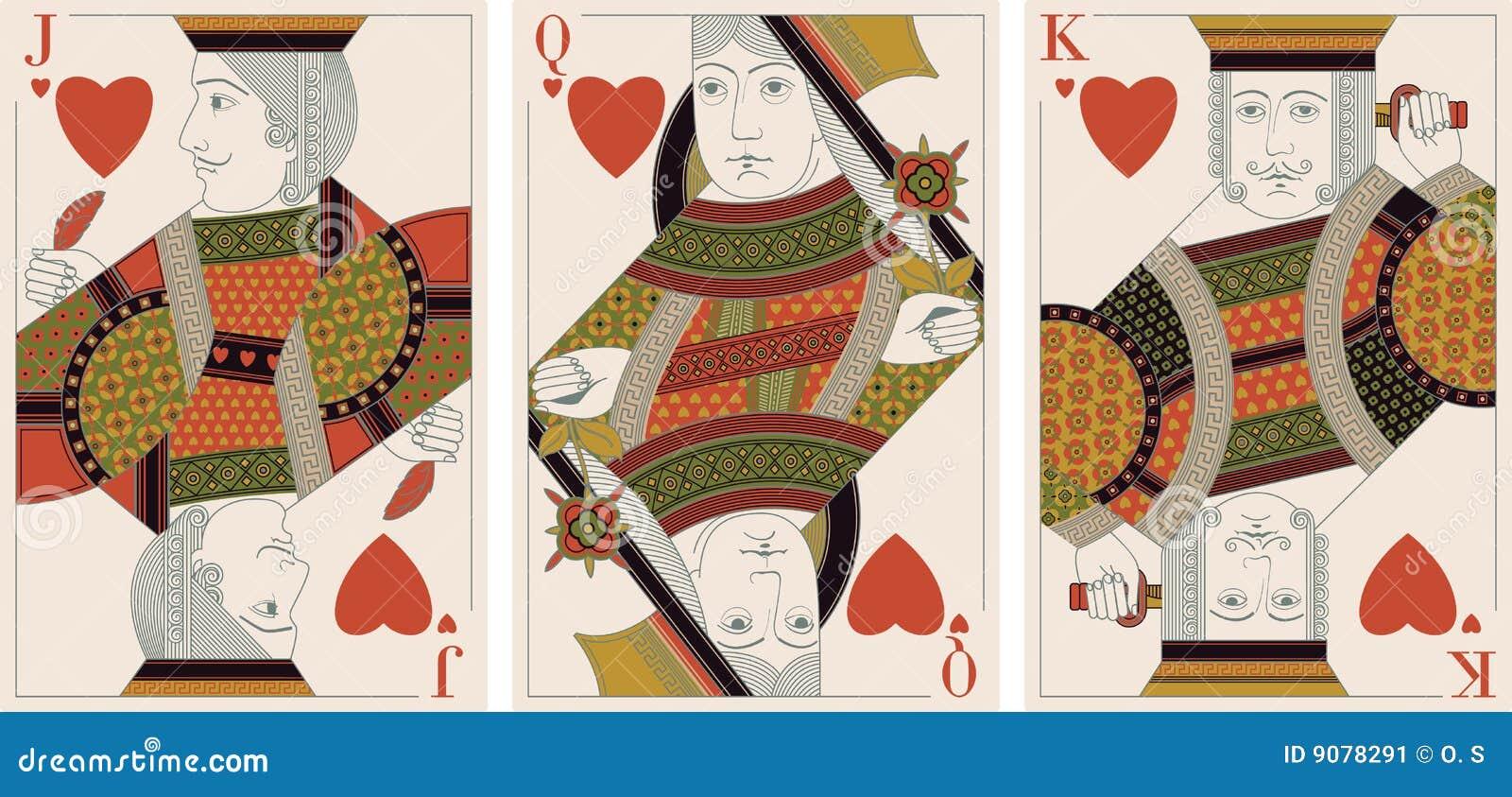 Jack, König, Königin der Innerer - Vektor