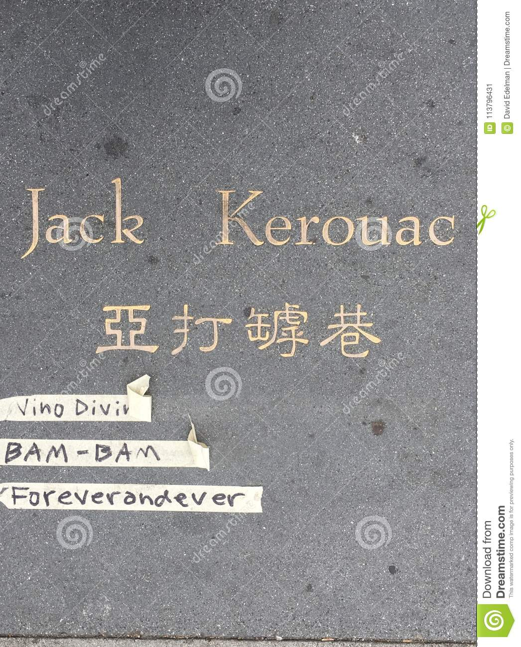 Jack Kerouac Alley, The Former Adler Alley  Editorial Photo