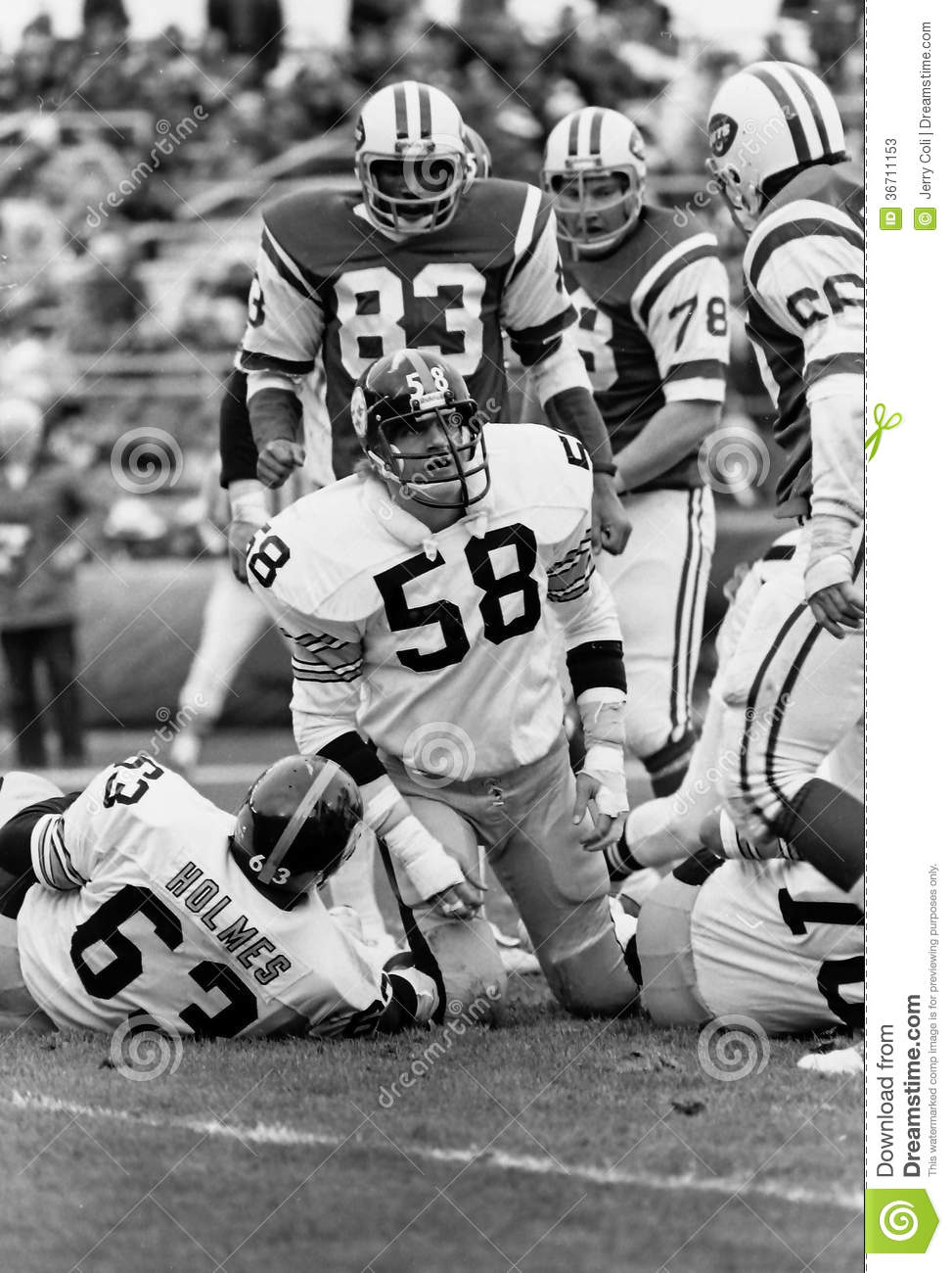 new concept e36fb 561bc Jack Lambert Pittsburgh Steelers Editorial Stock Photo ...