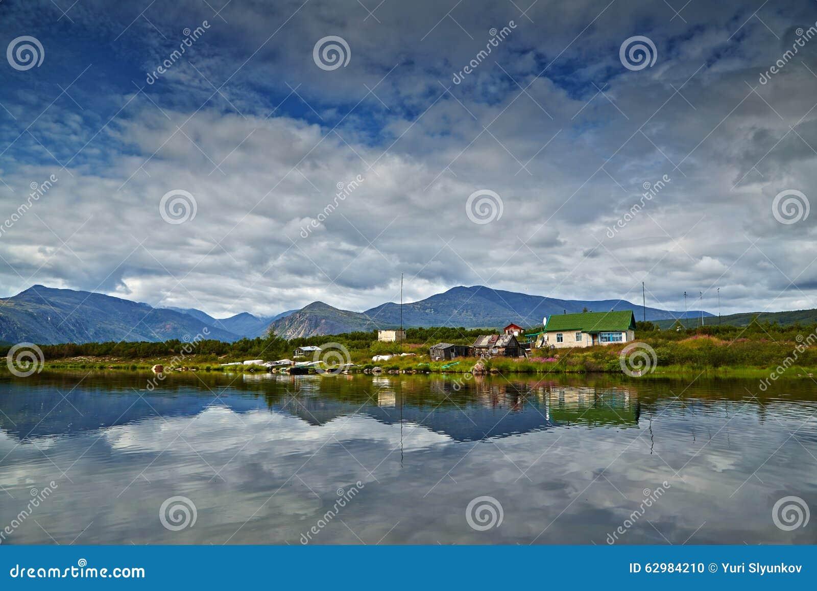 Jack London s lake. Small house on island. reflexions