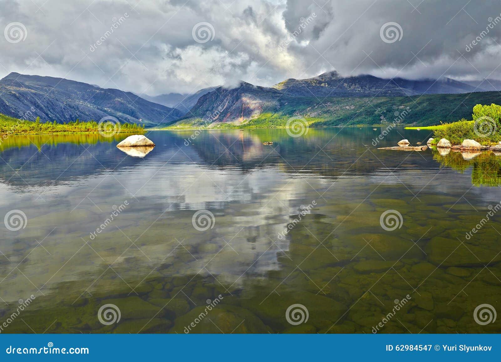Jack London s lake. Summer, reflexions