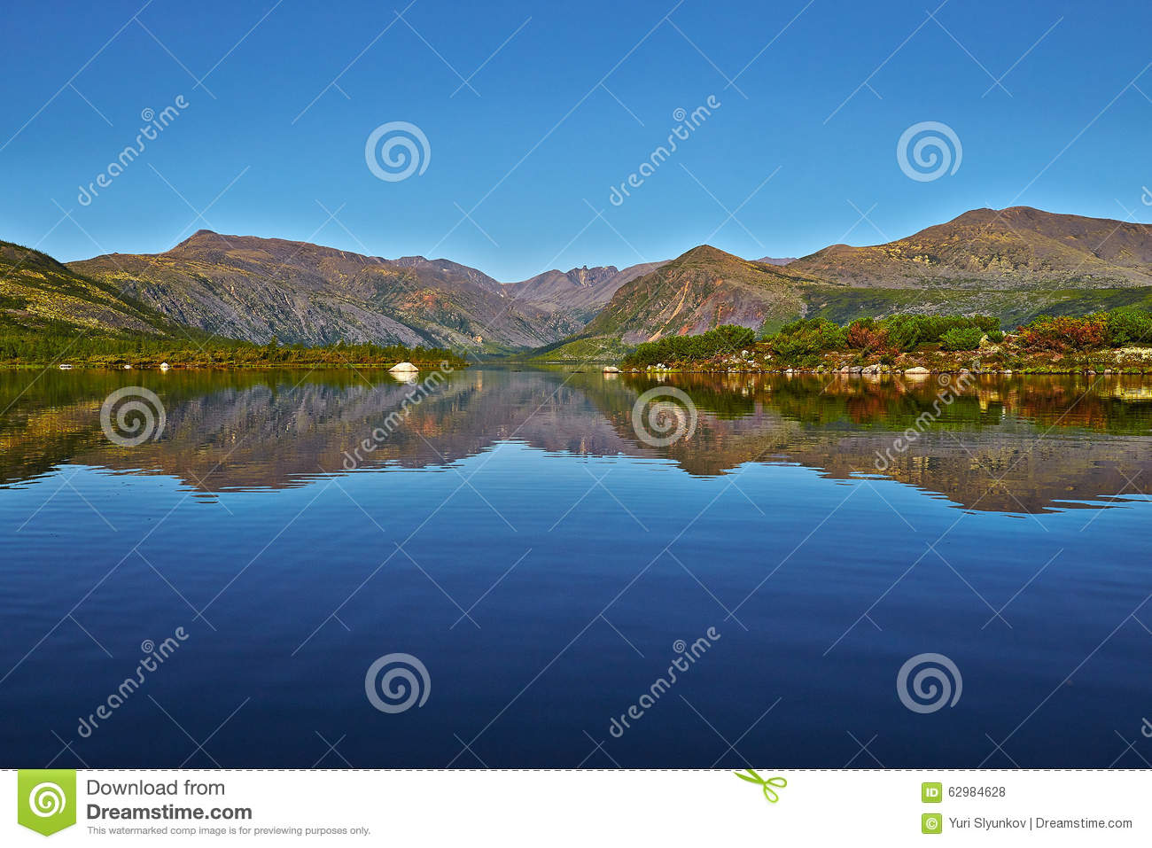 Jack London s lake. Summer, reflexions