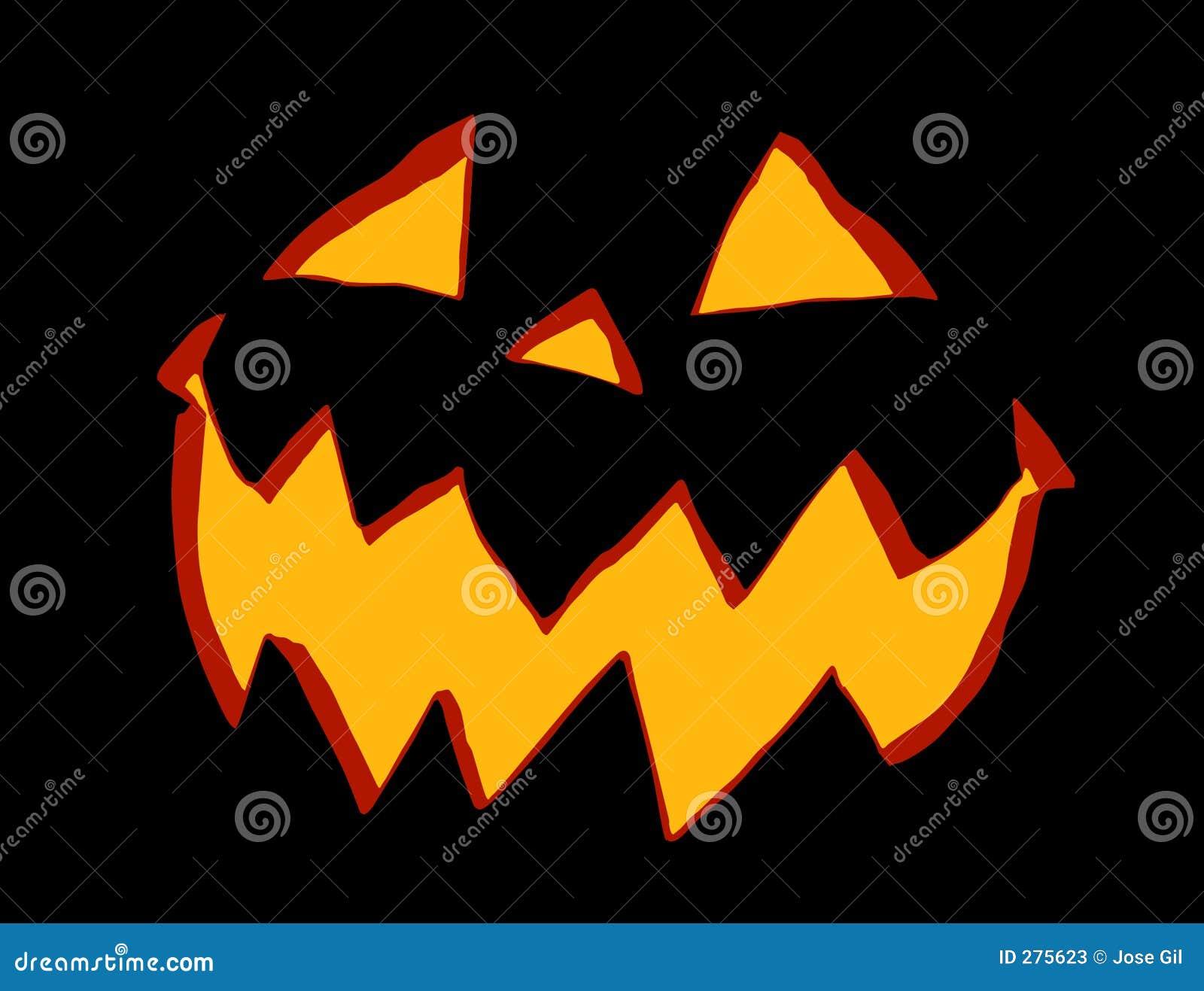 Jack o Lantern 3 color stock illustration. Illustration of fright ...
