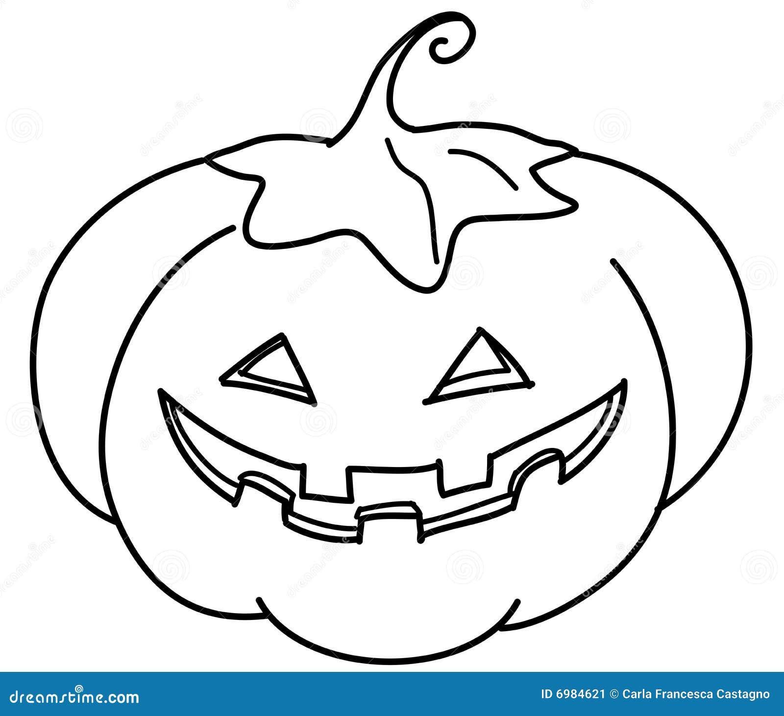 Coloring Jack O Lantern Stock Image Image 6984621