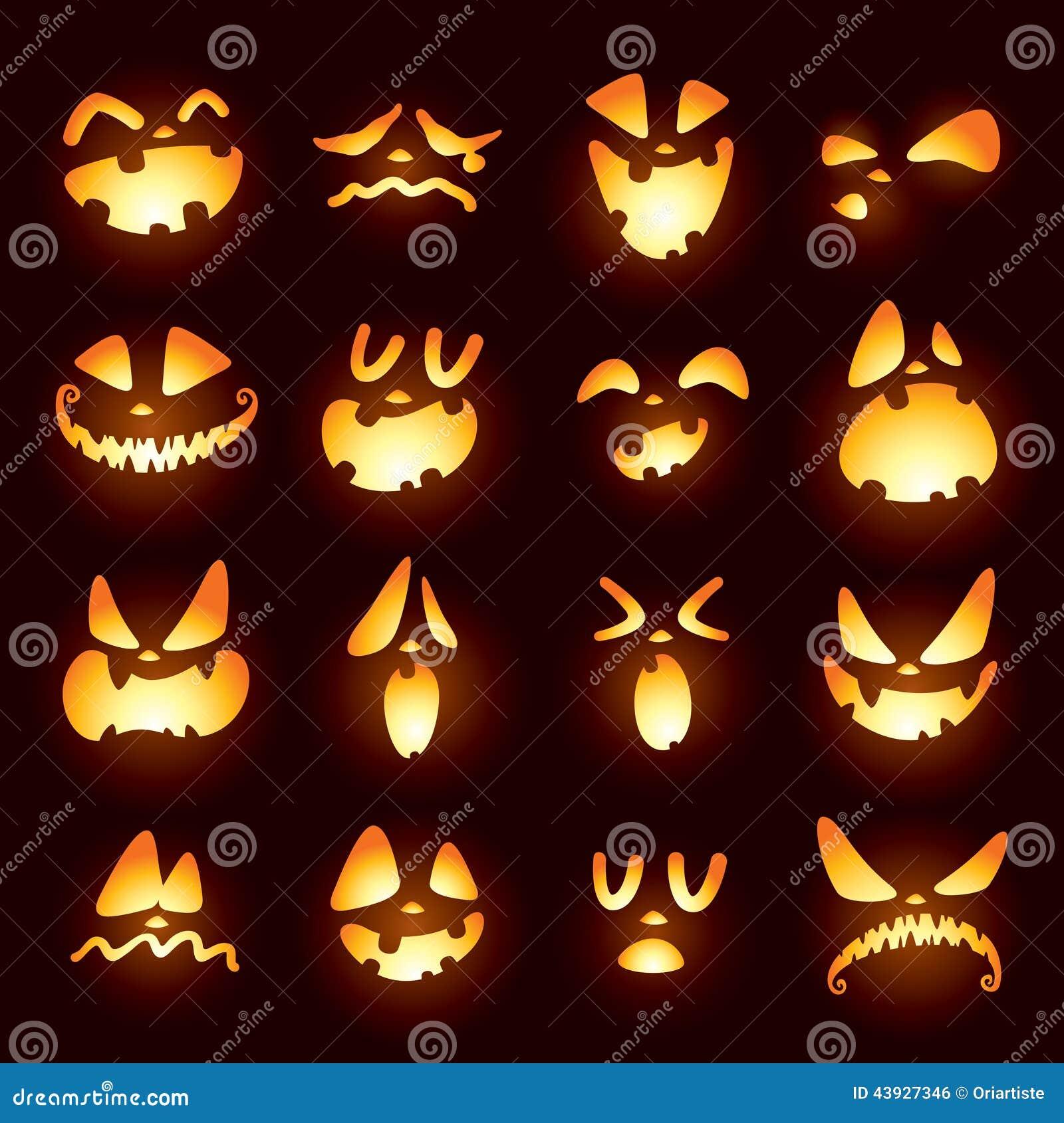 Jack O Lantern Faces Stock Vector - Image: 43927346