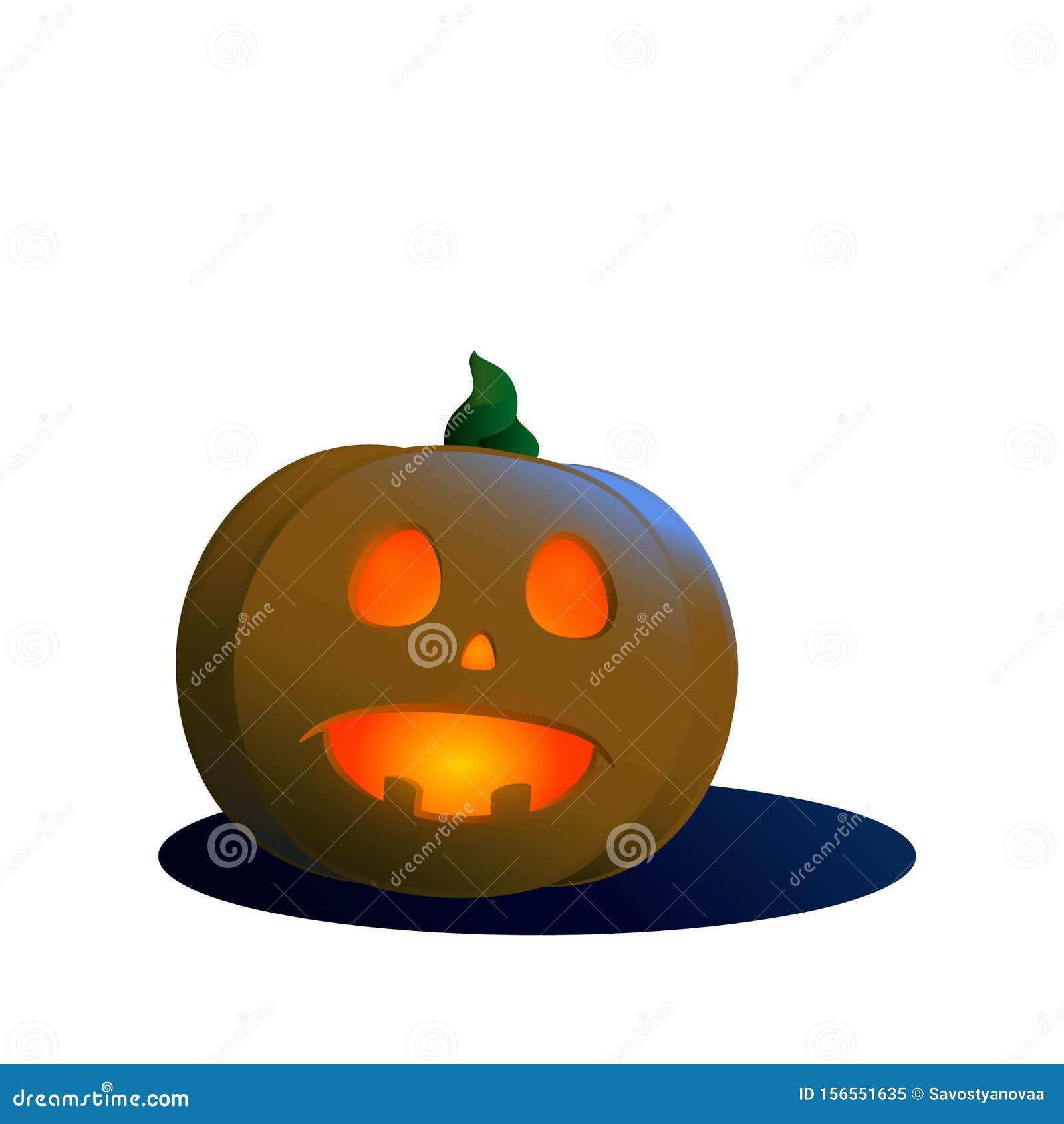 Funny Pumpkin Faces For Halloween Stock Illustration Illustration Of Beauty Element 156551635