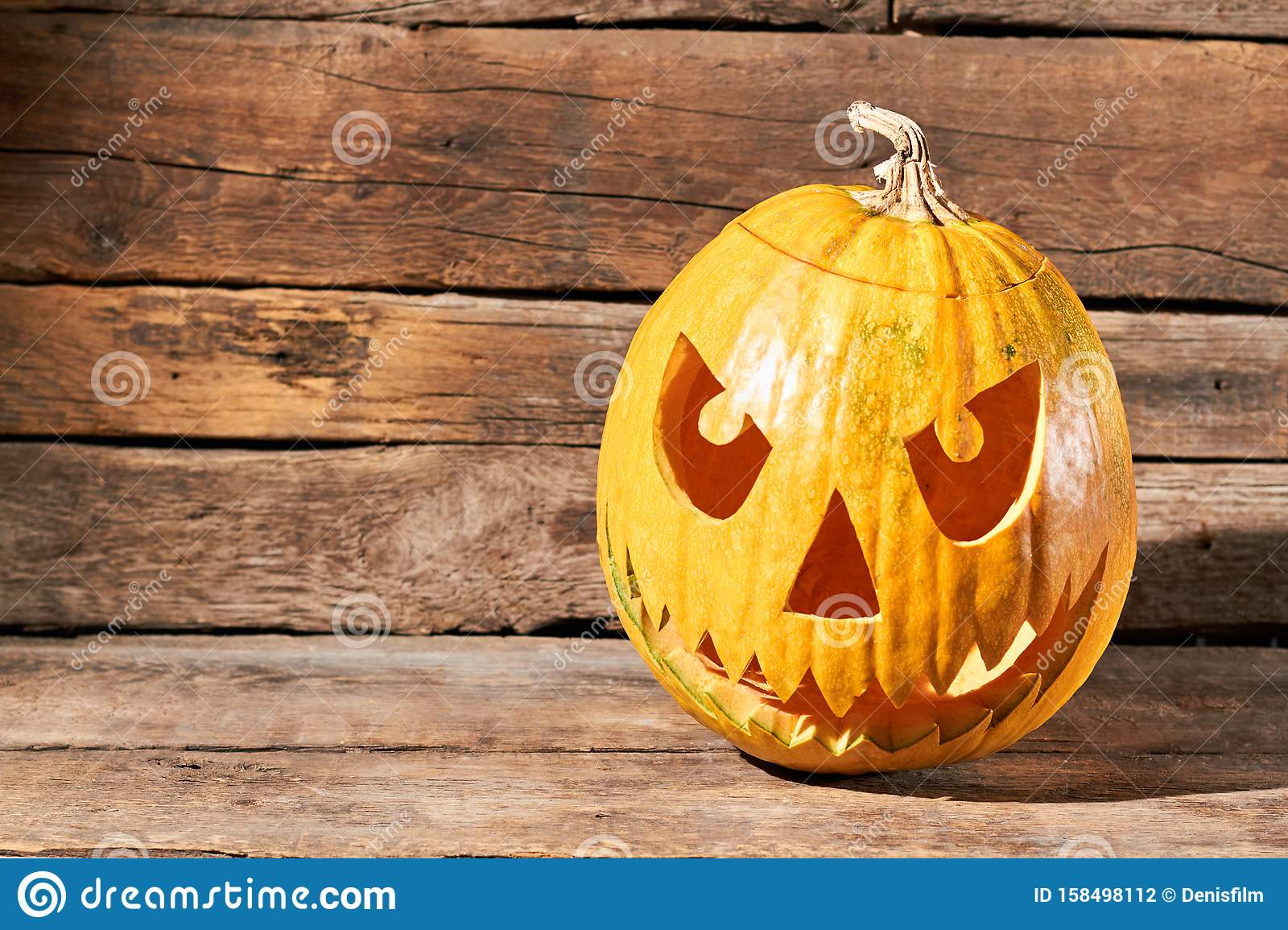 Jack O Lantern Halloween Pumpkin Face Stock Photo Image Of Face Holiday 158498112
