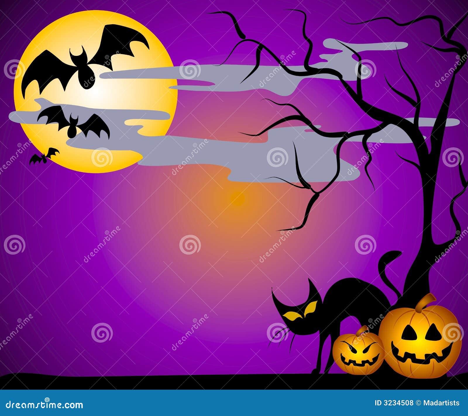 Jack O Lanterns Bats And Cats Royalty Free Stock Photos ...