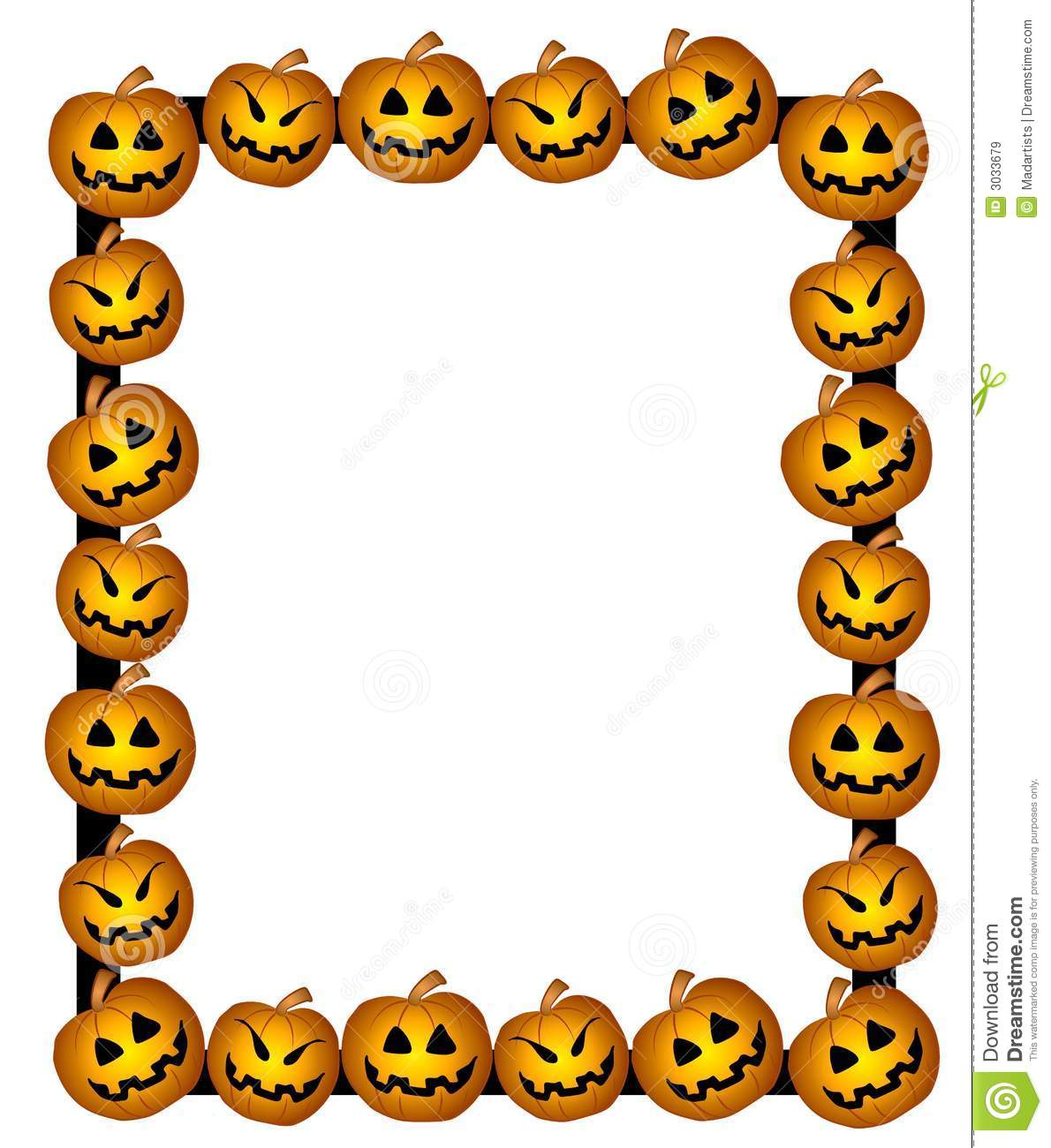 clip art background illustration of a couple of jack-o-lantern ...