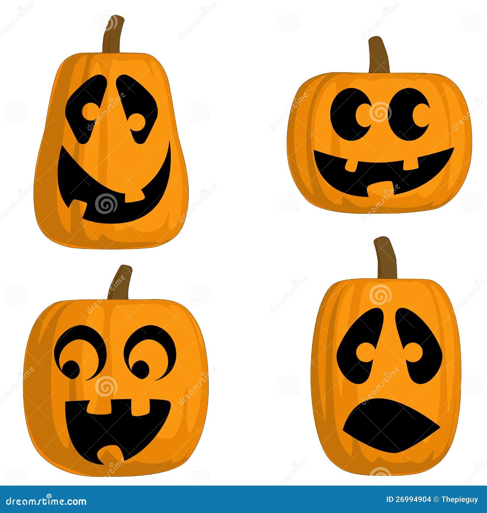 Jack O Lanterns Silly Stock Images Image 26994904