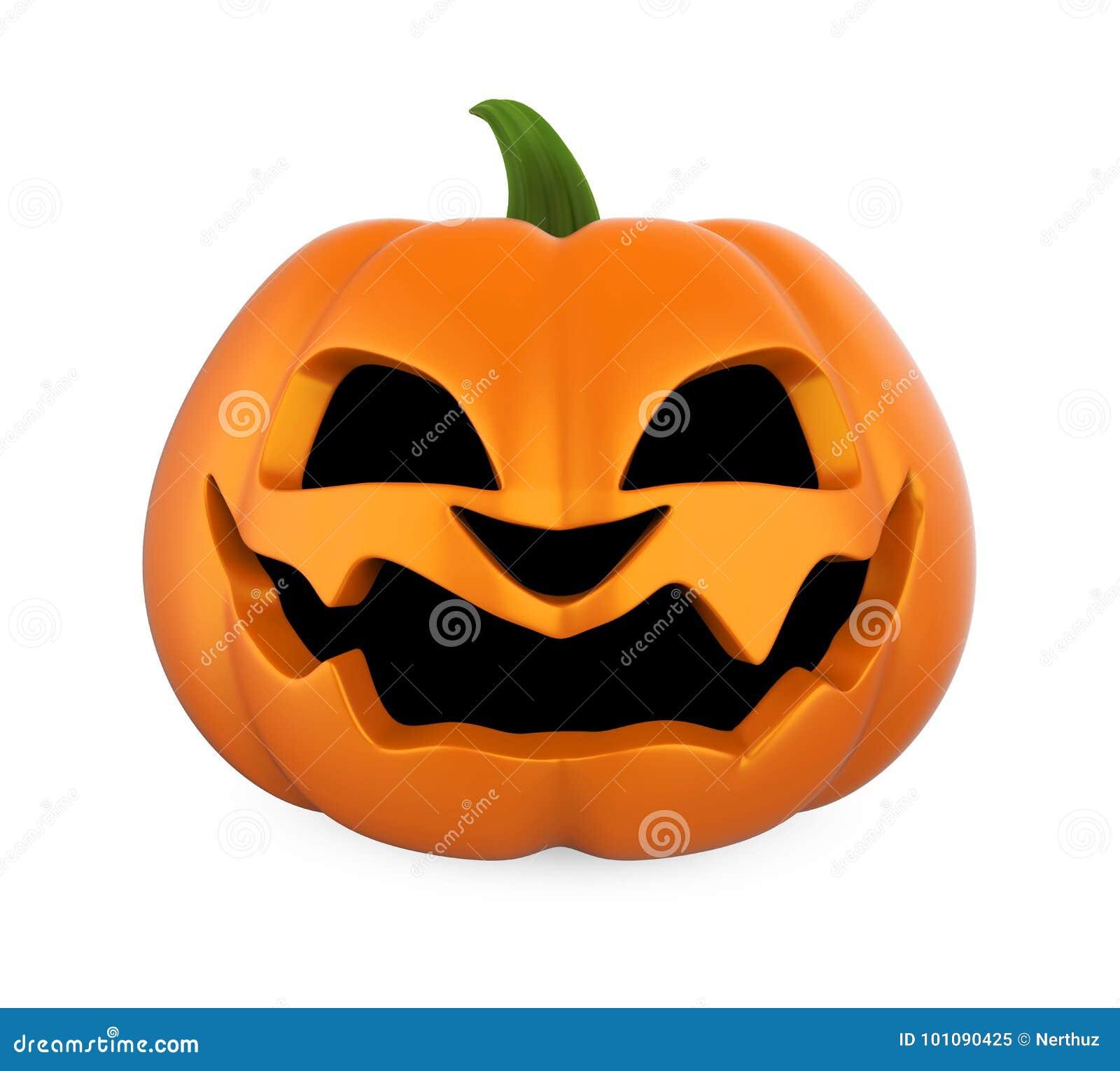 Jack O Latarniowa Halloweenowa bania Odizolowywająca