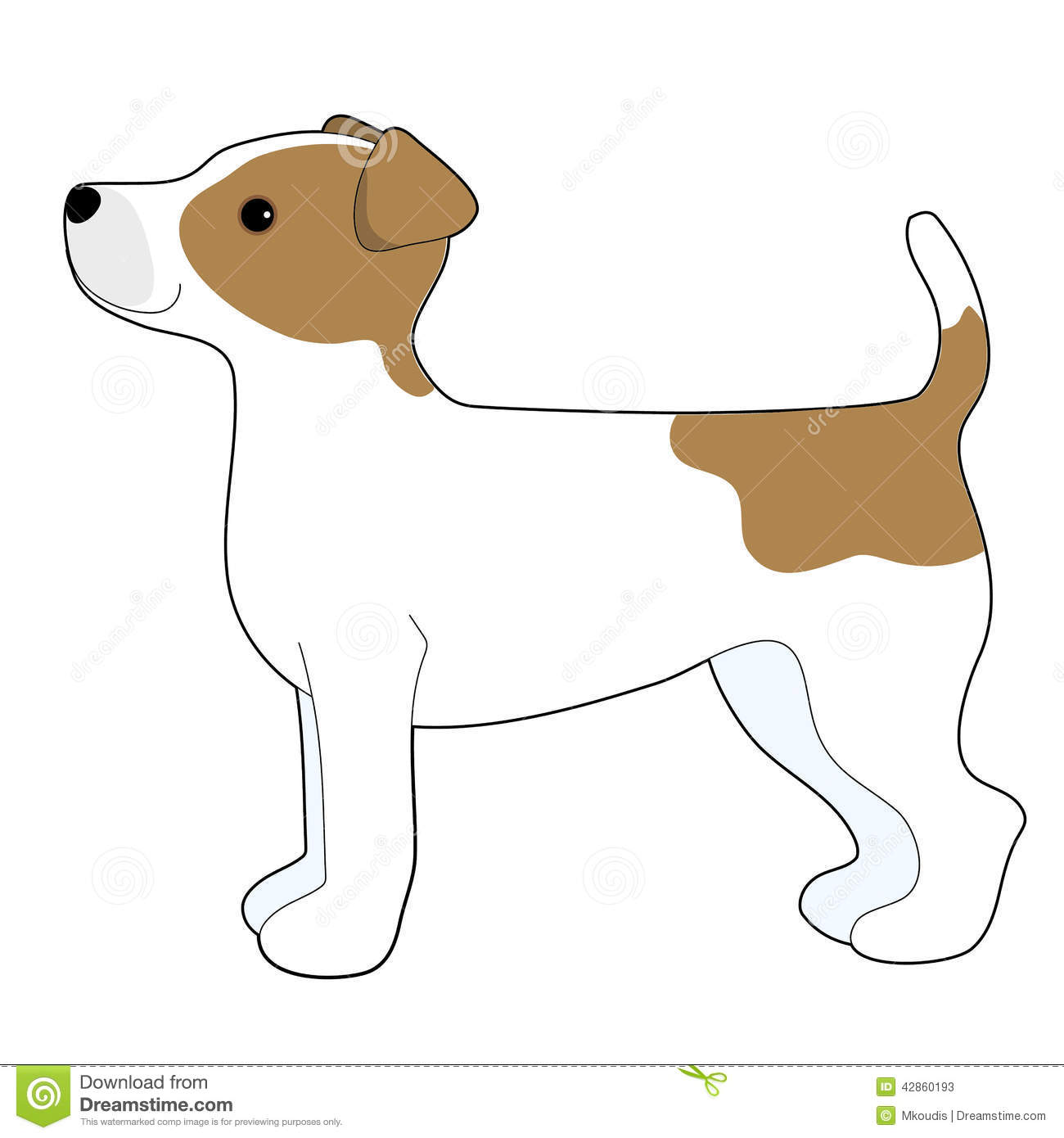 Jack Russell Terrier Stock Vector Image 42860193