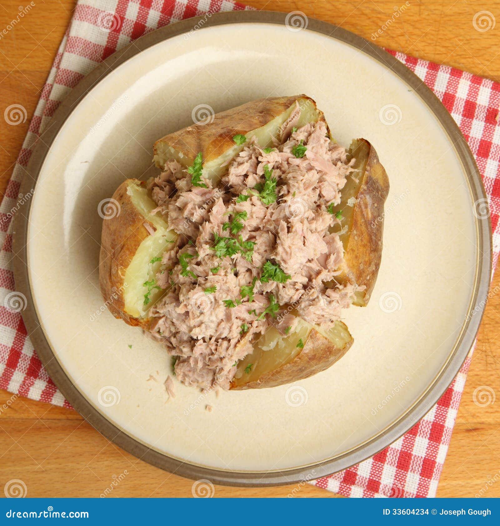 Jacket Or Baked Potato With Tuna Mayonnaise Stock Photo - Image: 33604234