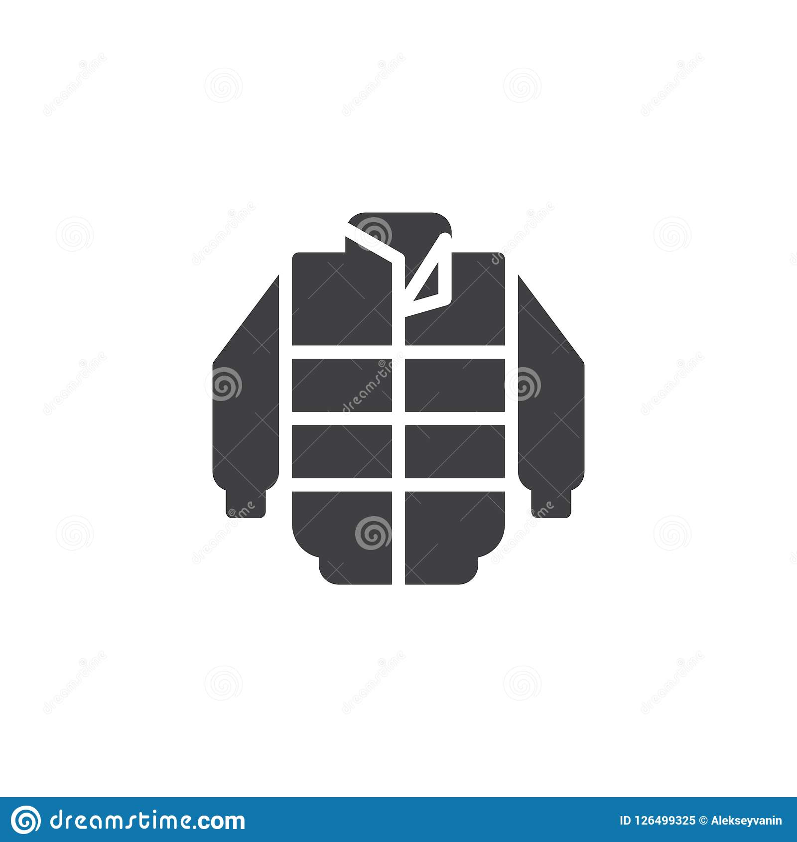 e45591021ee Jacket vector icon. filled flat sign for mobile concept and web design. Down  jacket simple solid icon. Symbol, logo illustration.