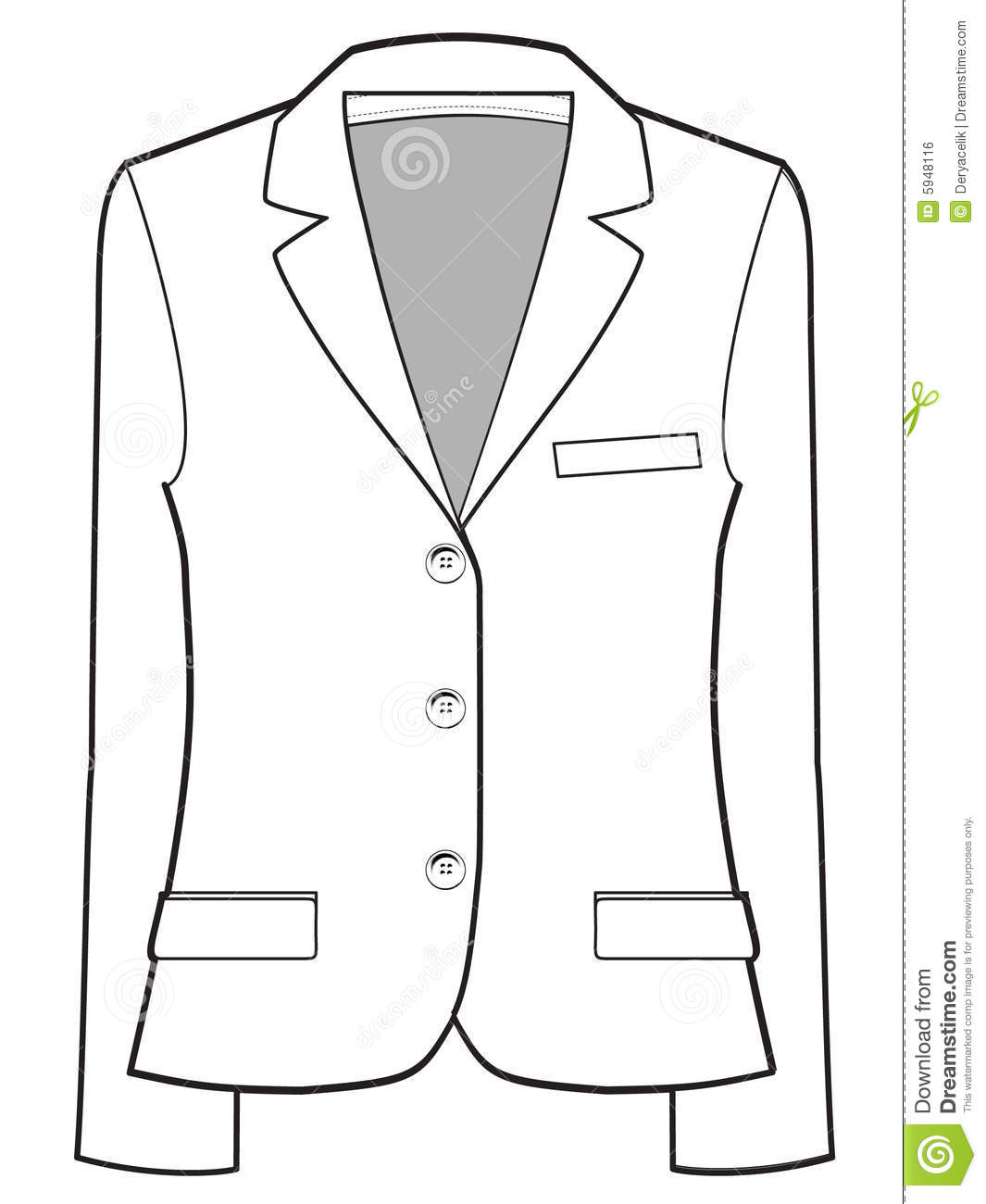 Jacket Vector Illustration Royalty Free Stock Image - Image: 5948116