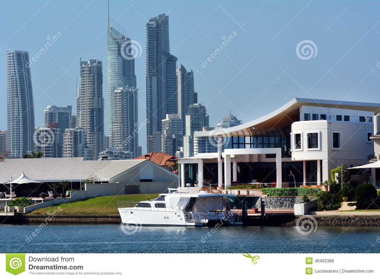 GOLD COAST   OCT 23 2014:Jackie Chan Luxury Holiday Home In Macintosh  Island.He Is A Hong Kong Actor, Action Choreographer,  Comedian,director,producer ...