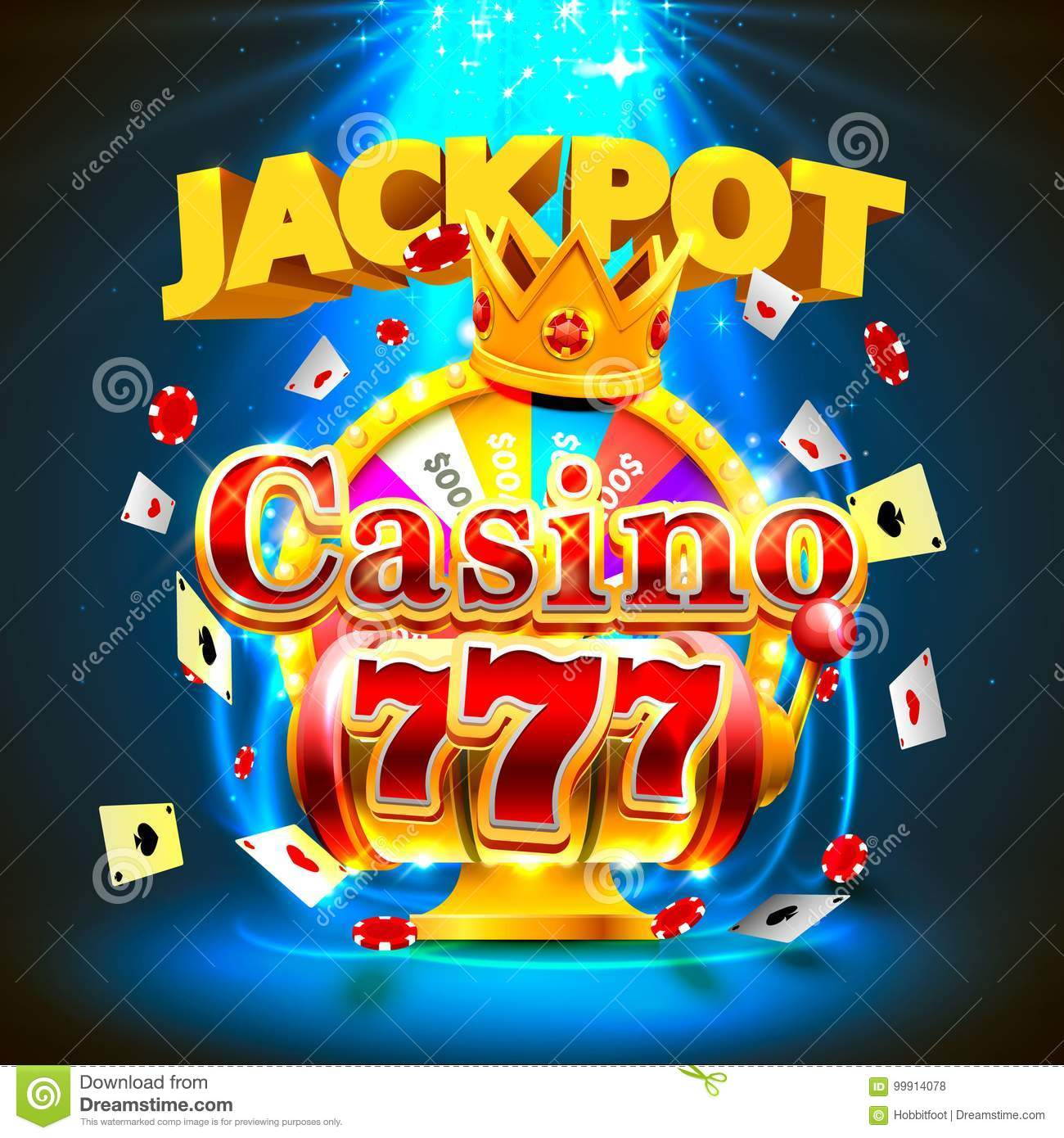 Jackpot Casino 777 Slots And Fortune King Banner Stock Vector Illustration Of Lucky Casino 99914078