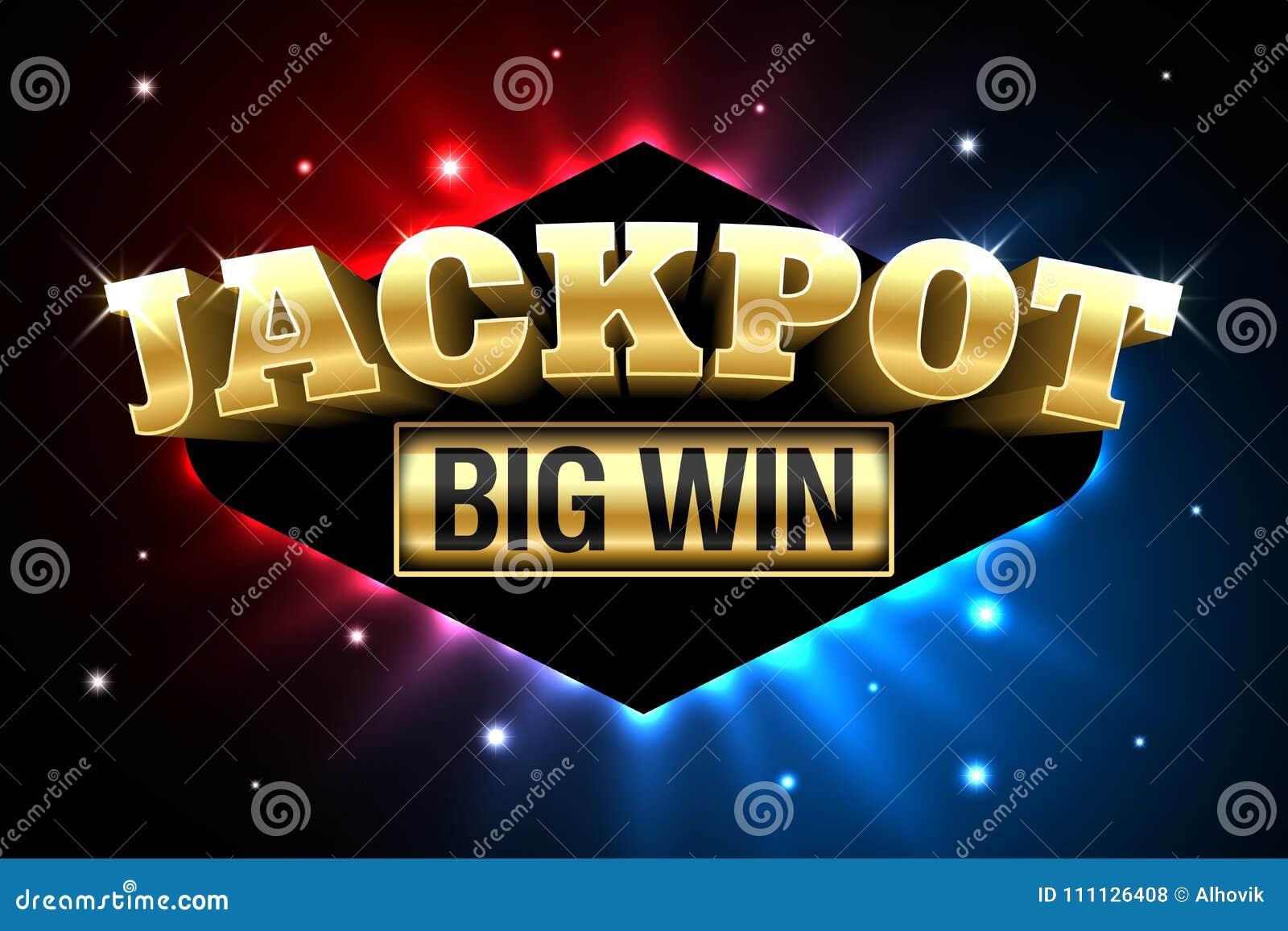 Jackpot Casino Banner Big Win Stock Vector Illustration Of