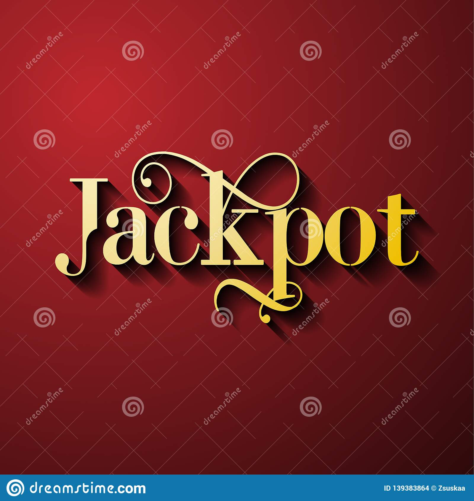 Jackpot - gambling game bright banner with winning.