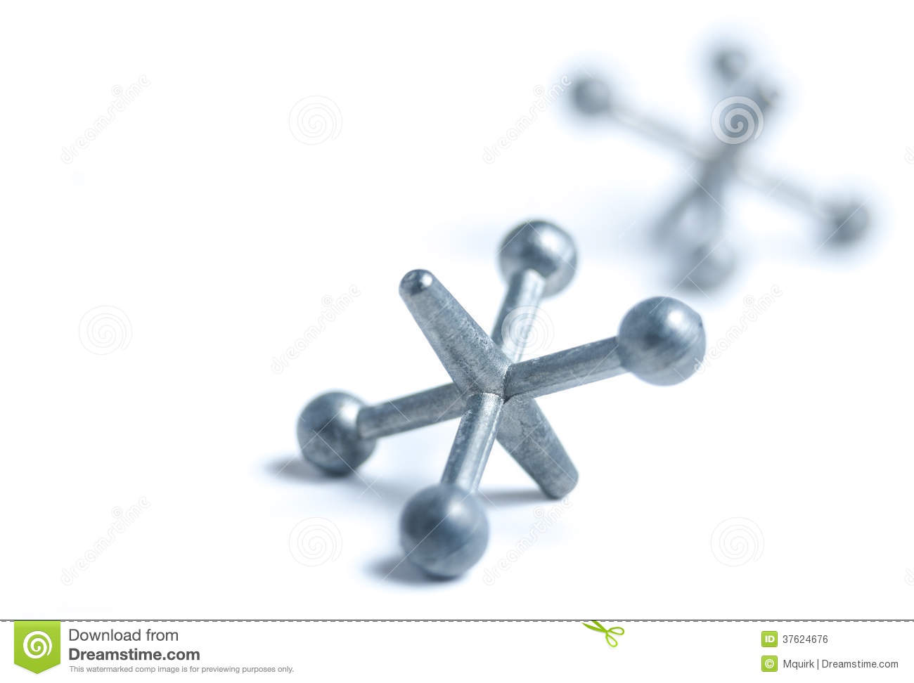 Jacks game pieces stock photo. Image of classic ...