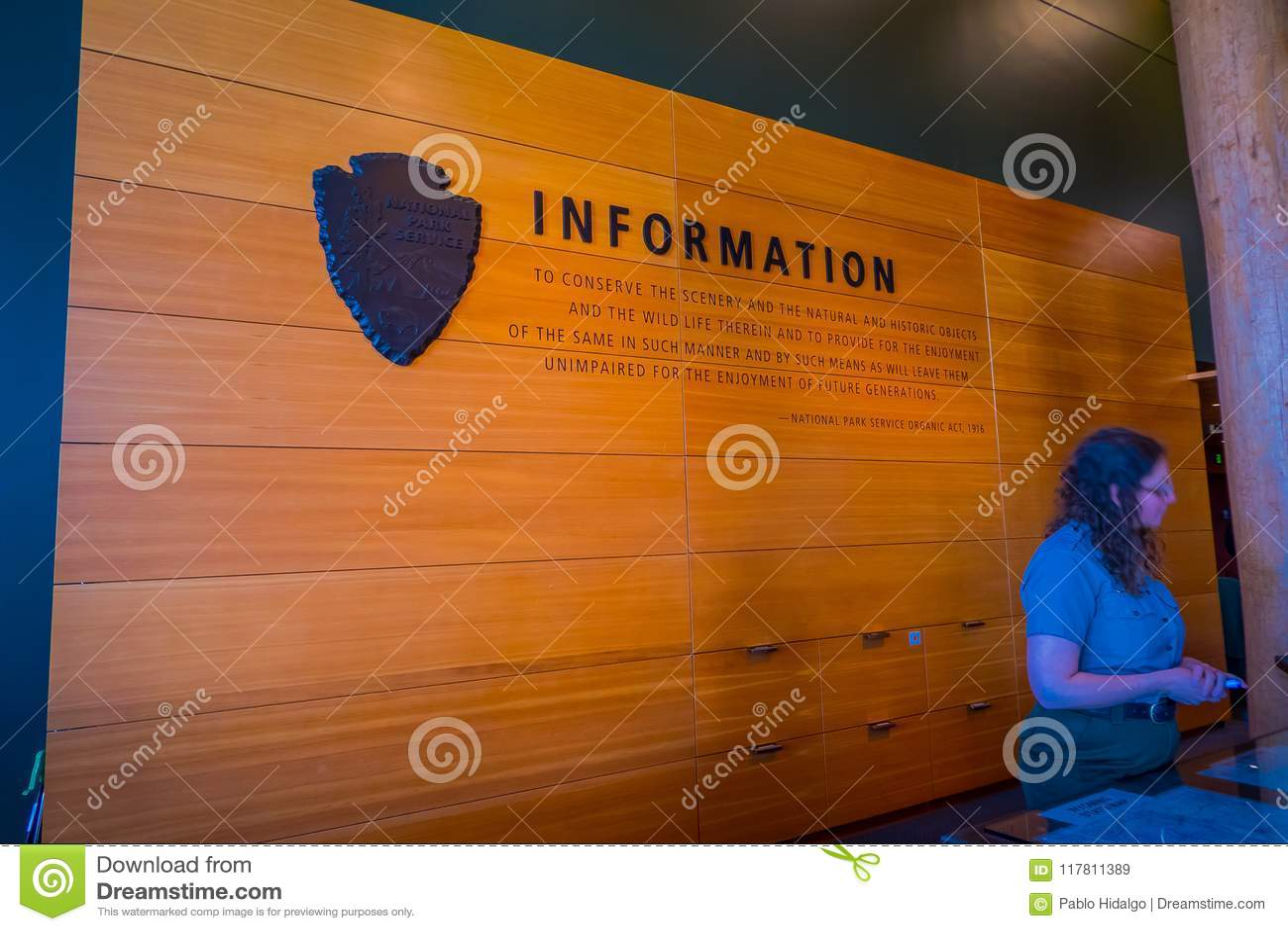 Jackson Hole, Wyoming USA- May 23 2018: Unidentified Woman ...