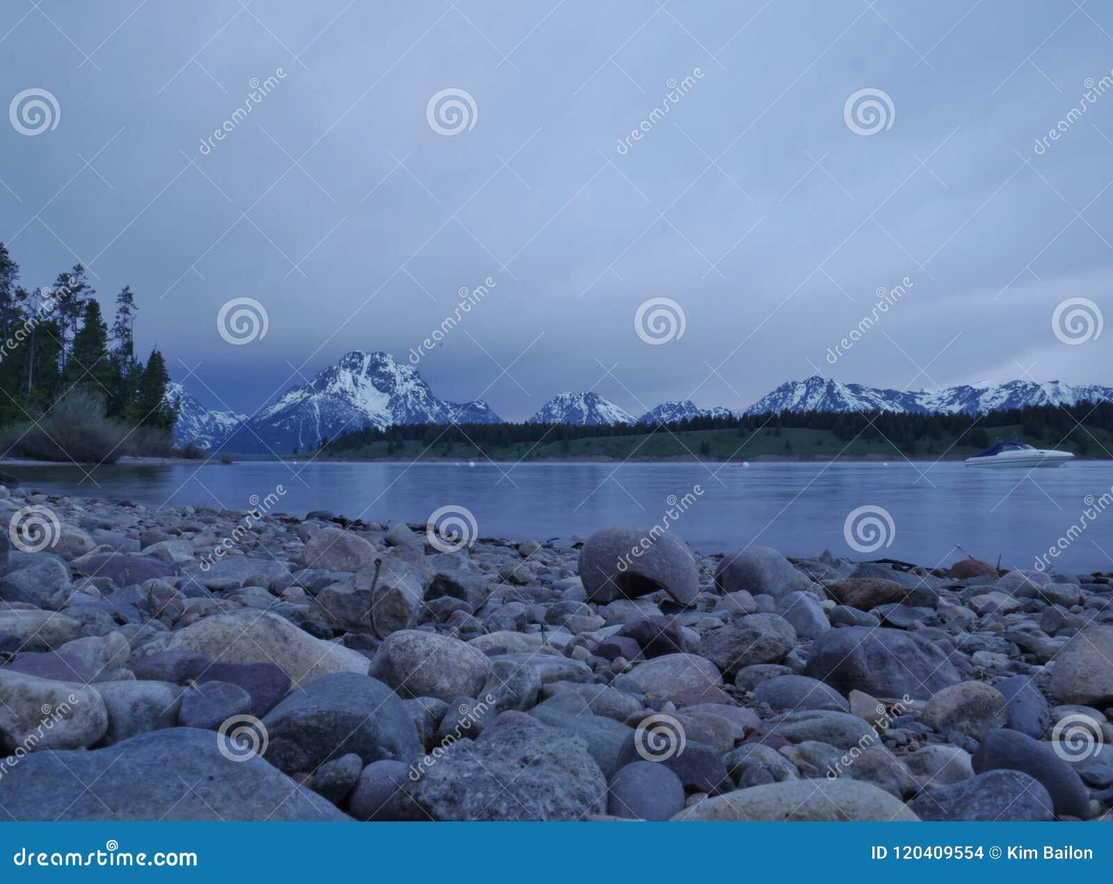 Jackson Lake, parque nacional grande de Teton, Wyoming U S A