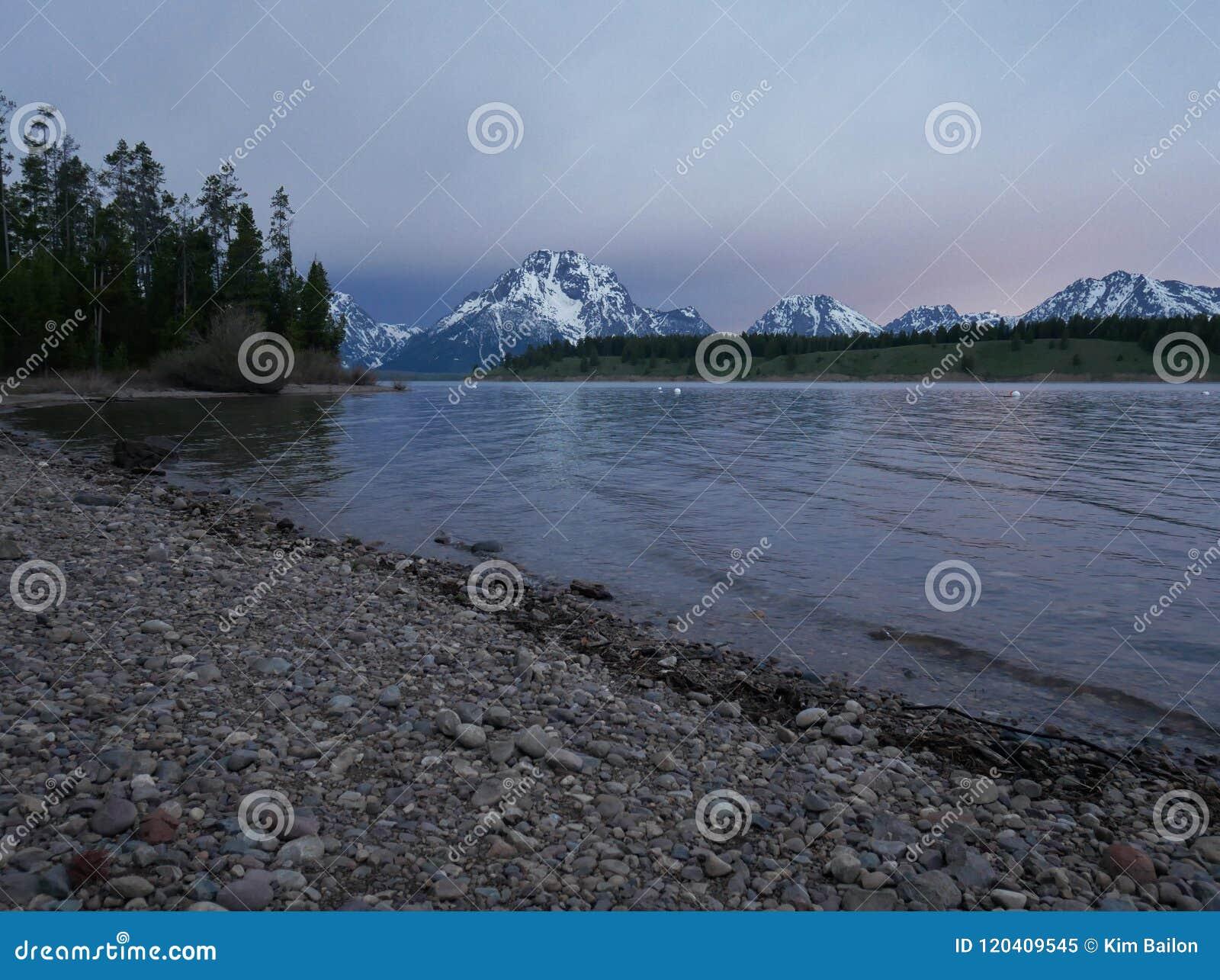 Jackson Lake, parque nacional magnífico de Teton, Wyoming U S A