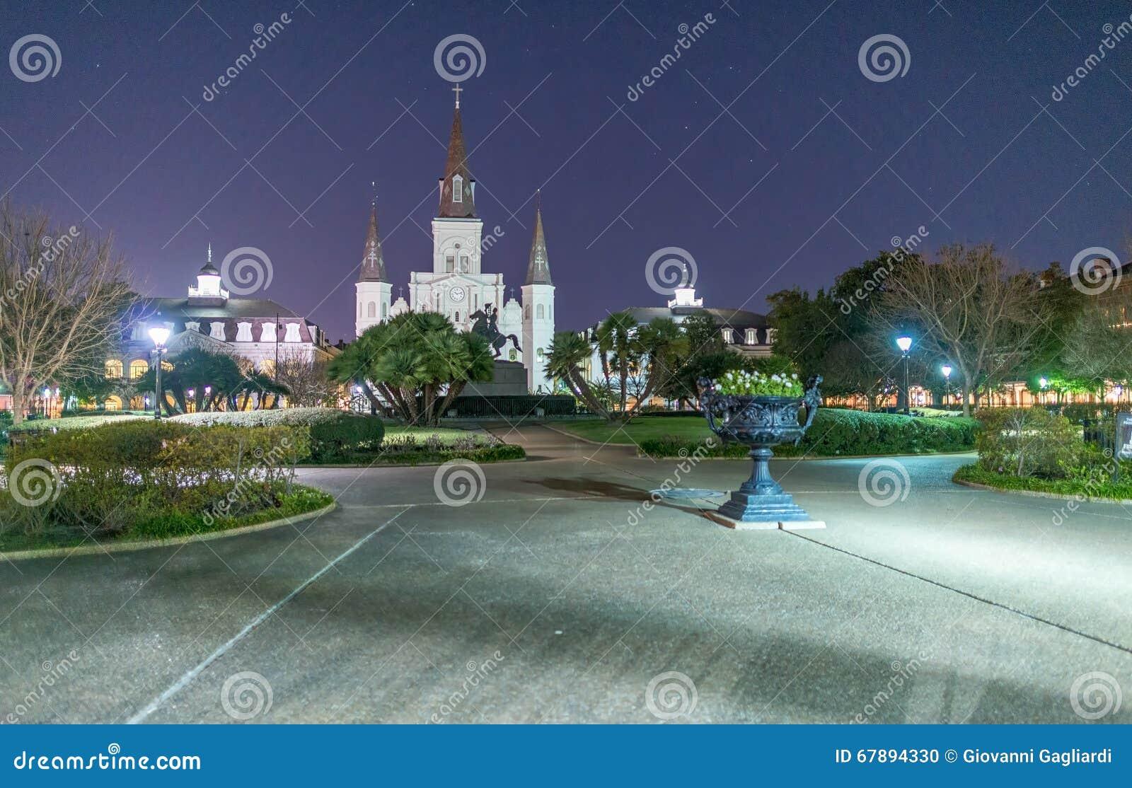 Jackson Square τη νύχτα, Νέα Ορλεάνη