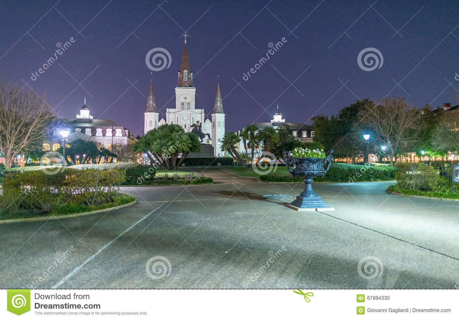 Jackson Square alla notte, New Orleans