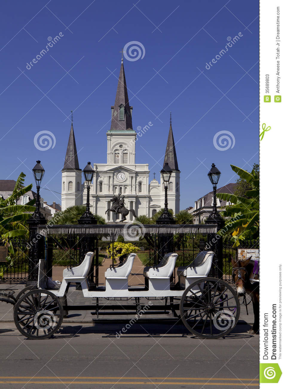 Jackson Square French Quarter Of New Orleans Louisiana Stock