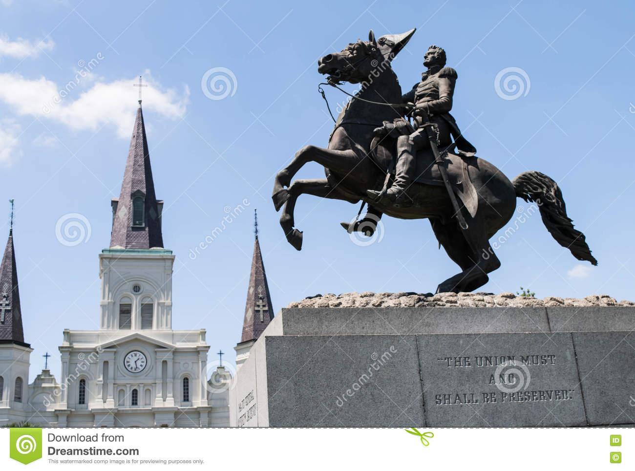 Jackson Square, nuovo Orleans-Andrew Jackson Statue, st Louis Cathedral