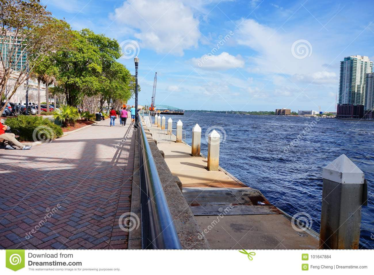 Jacksonville City and st johns river