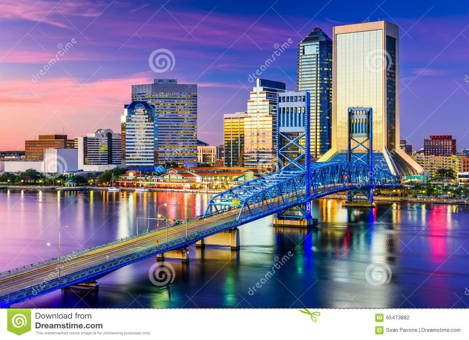 Jacksonville, FL linia horyzontu