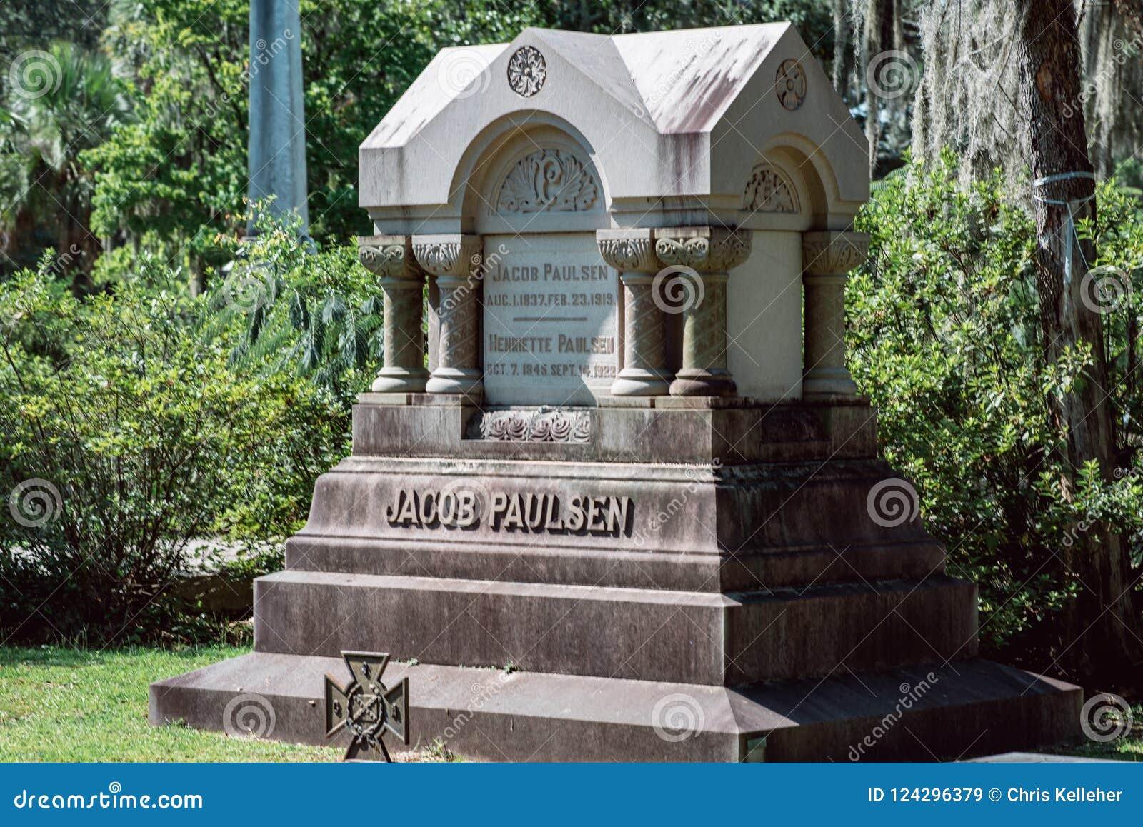 Jacob Paulsen Cemetery Statuary Statue Bonaventure Cemetery Savannah Georgia