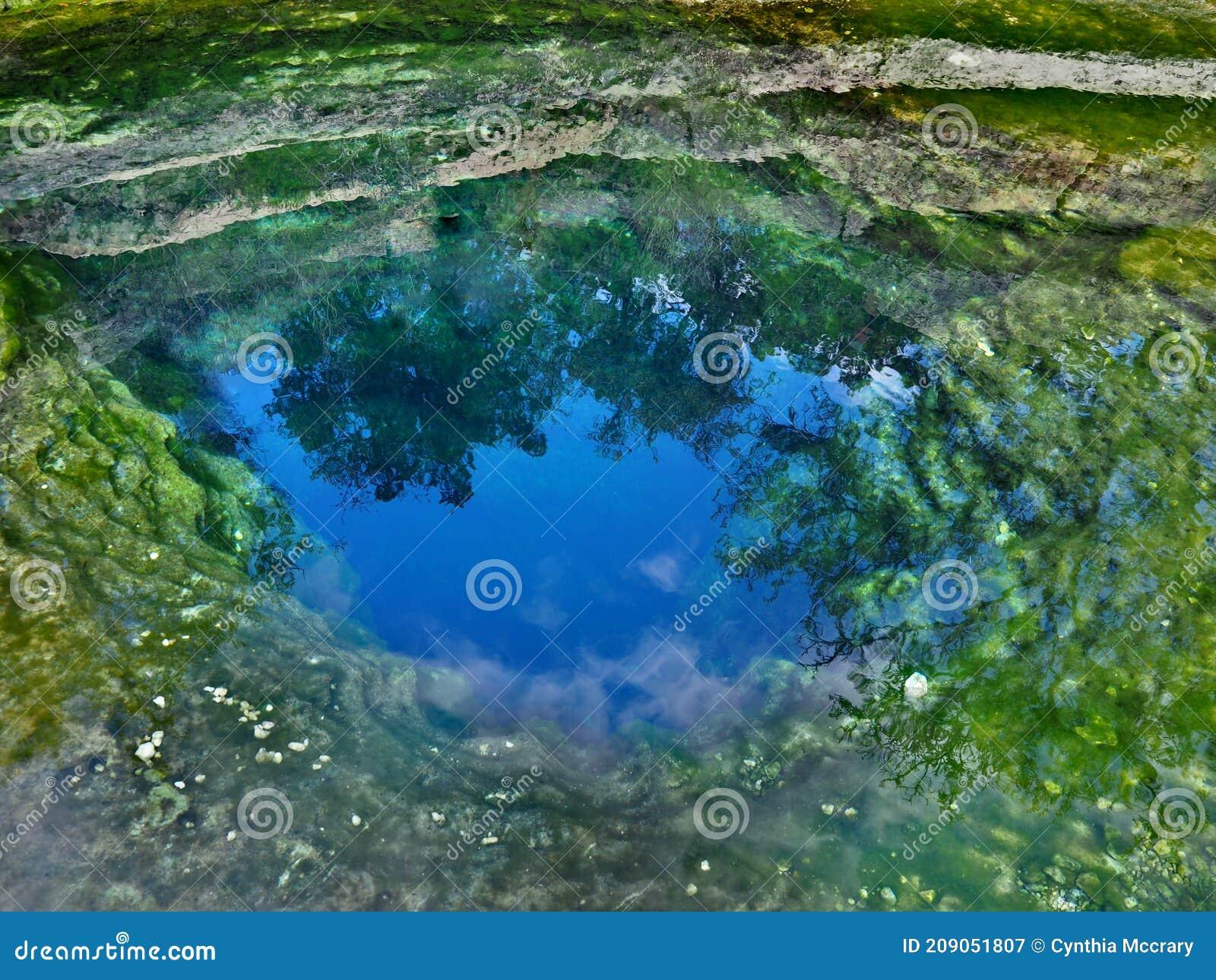 Near Wimberley, Texas, the Hamilton Pool is a popular
