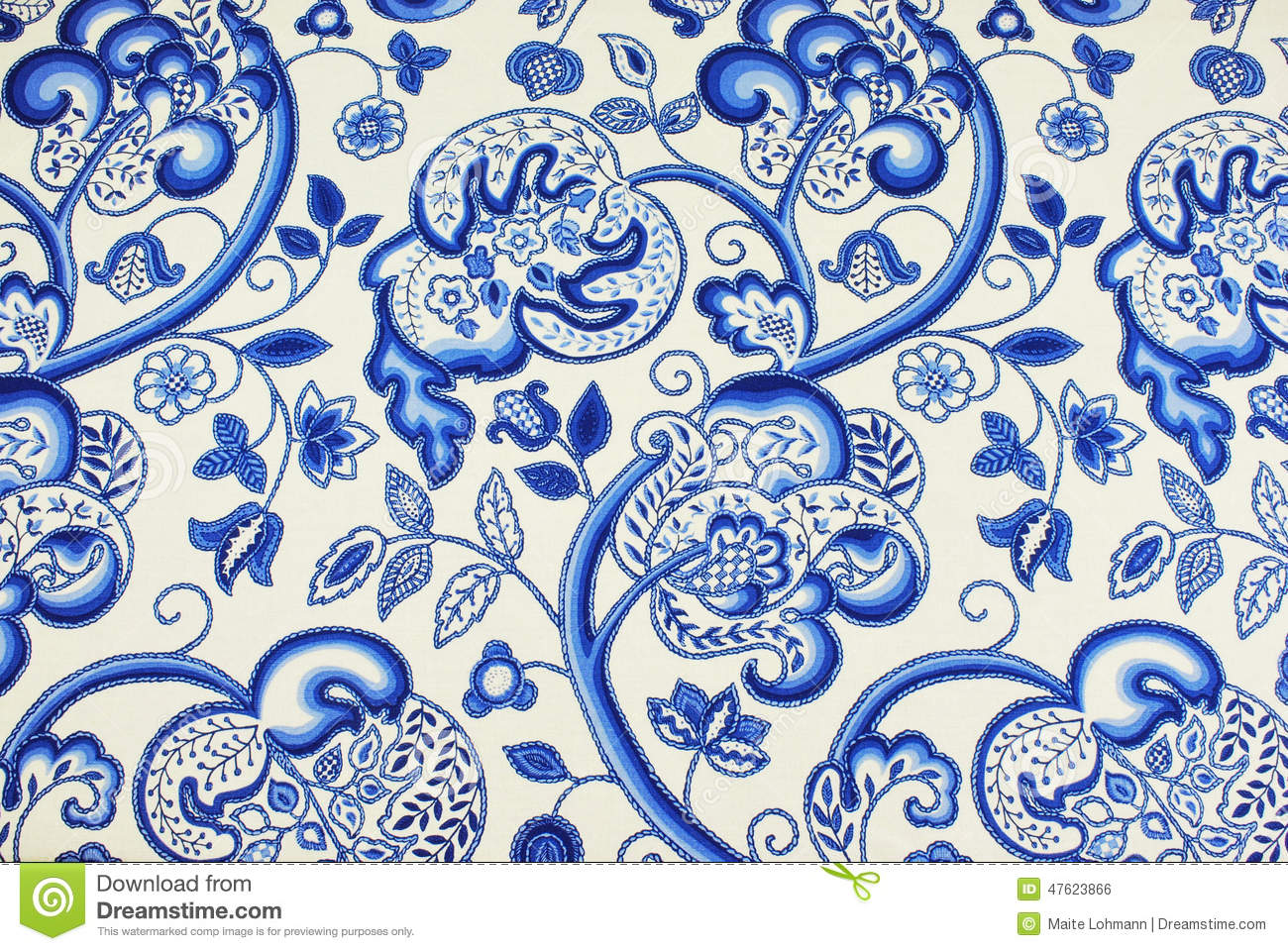 Jacobean patterned fabric stock photo. Image of soft - 47623866