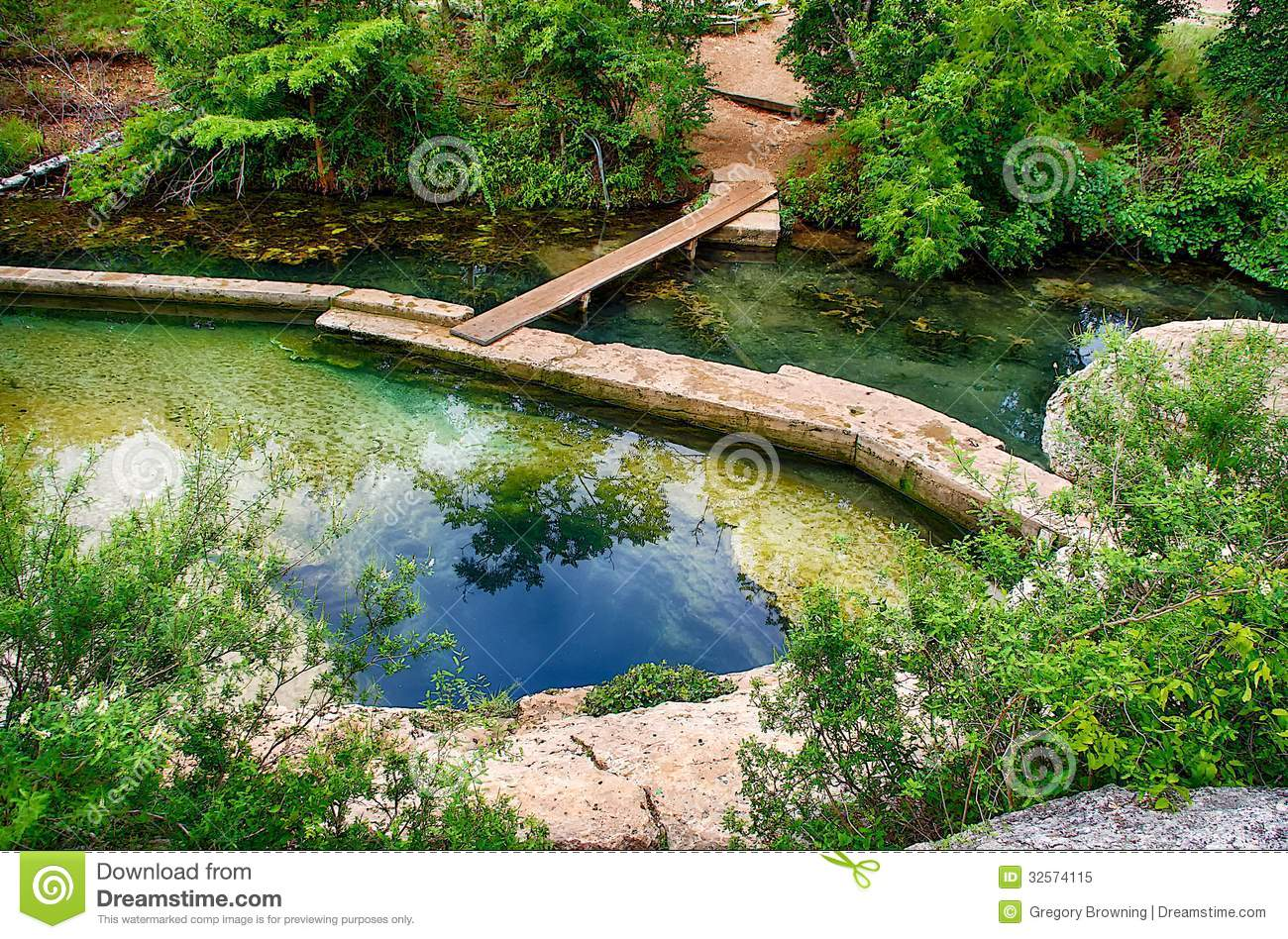Jacobs Well near Wimberley, Texas is a unique geological