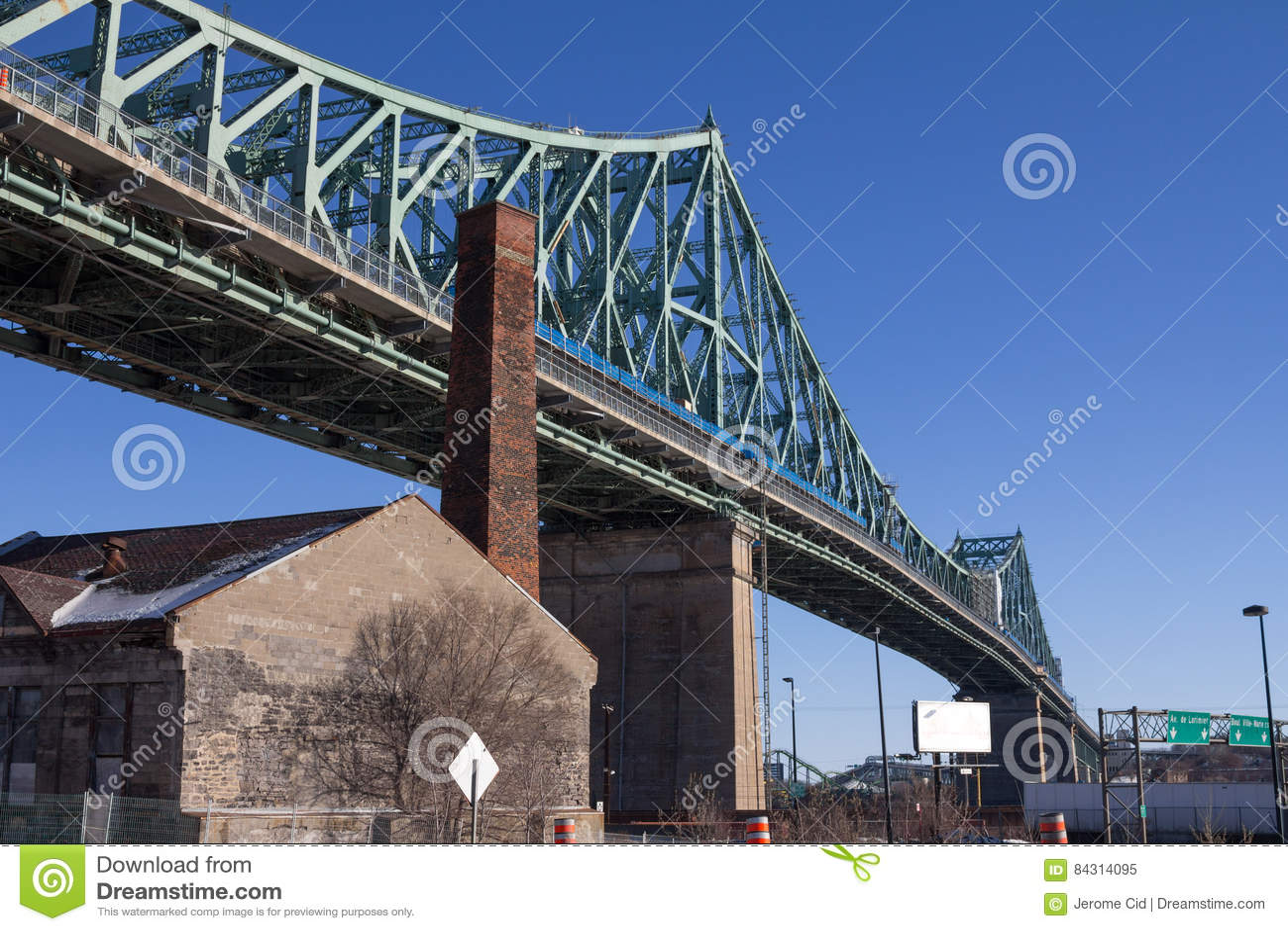 Jacques Cartier bridge in Montreal, Quebec, Canada in Winter
