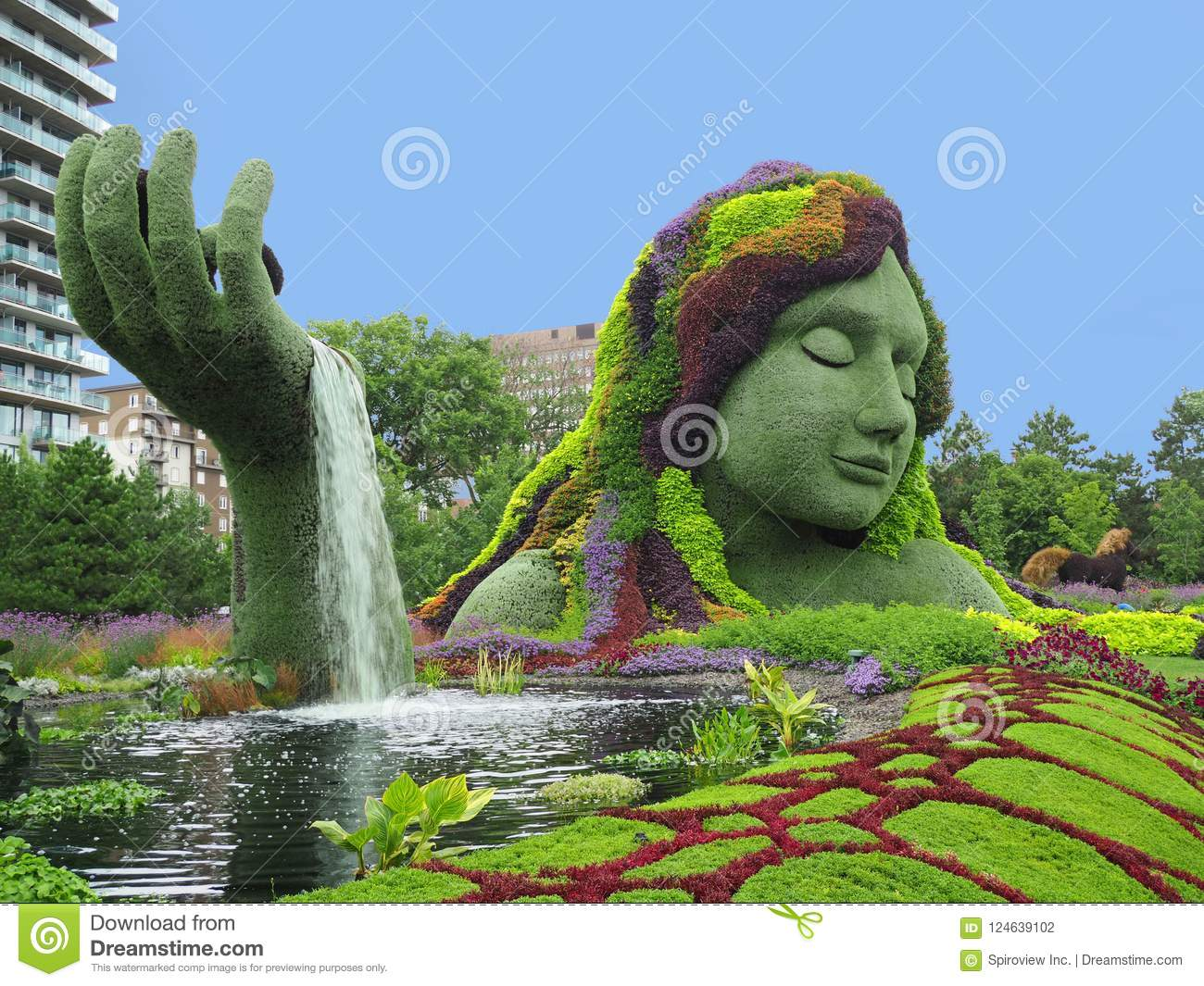 Topiary sculpture editorial photography  Image of gaia