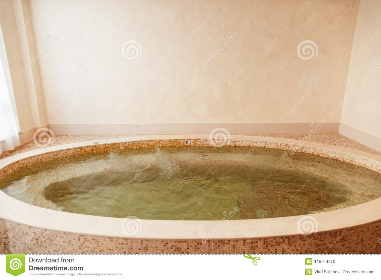 Jacuzzi Baths In Hotel Spa Center Stock Photo - Image of bath ...