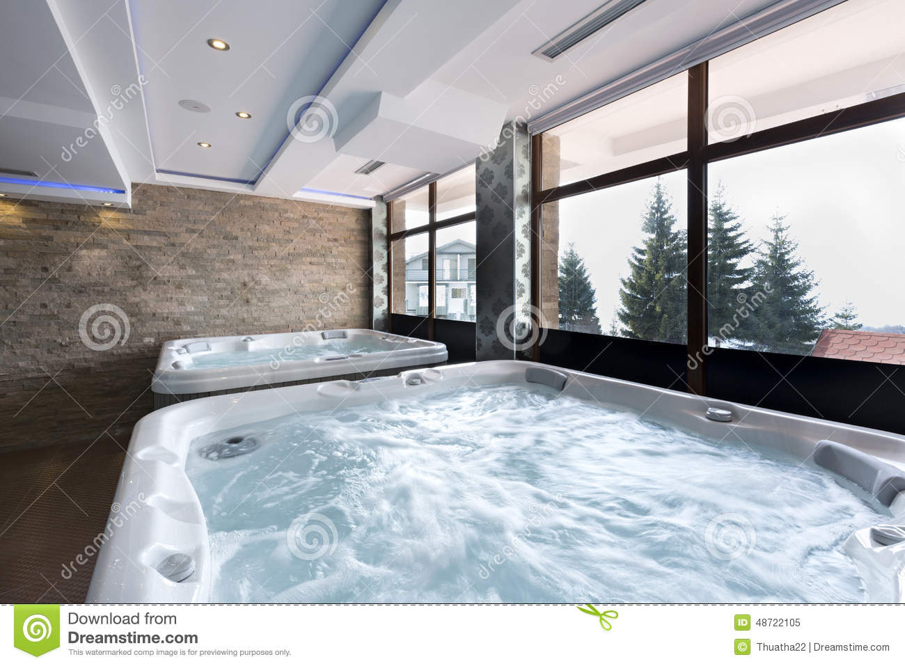 Jacuzzi Baths In Hotel Spa Center Stock Image - Image of healthy ...