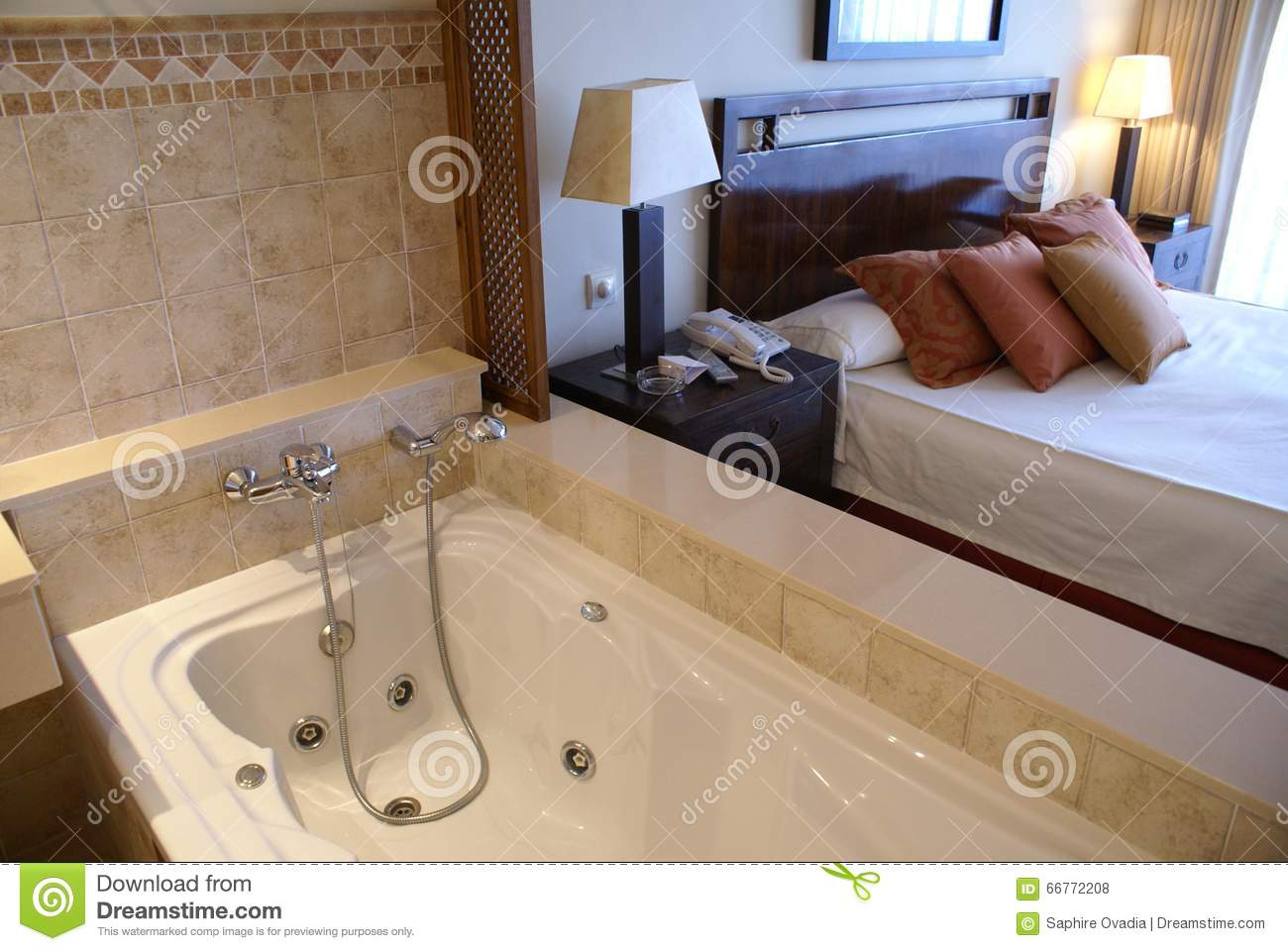 Jacuzzi Hot Tub Bath Spa Stock Photo Image Of Bathroom