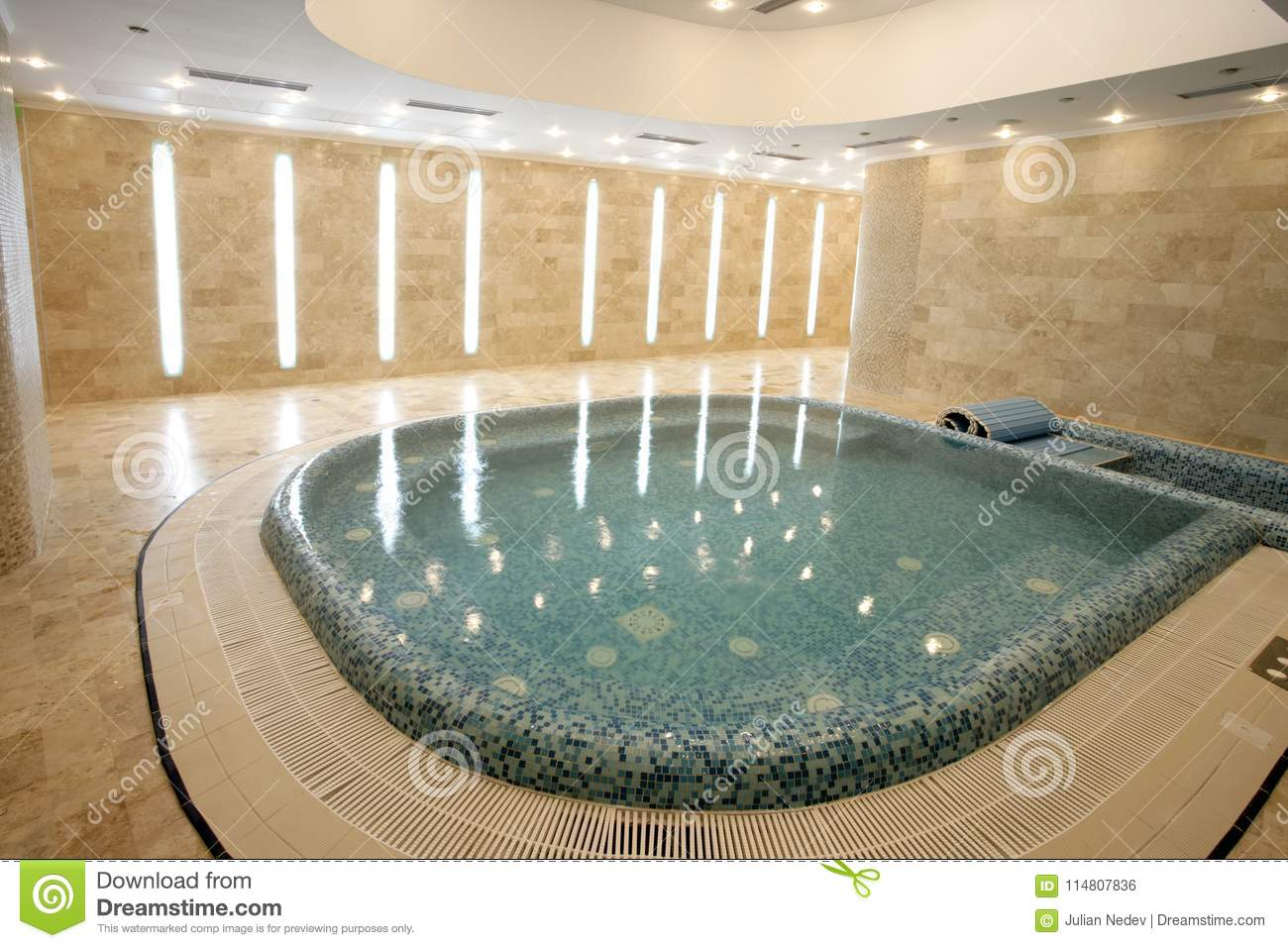 Jacuzzi pool in a modern hotel stock photo image of interior