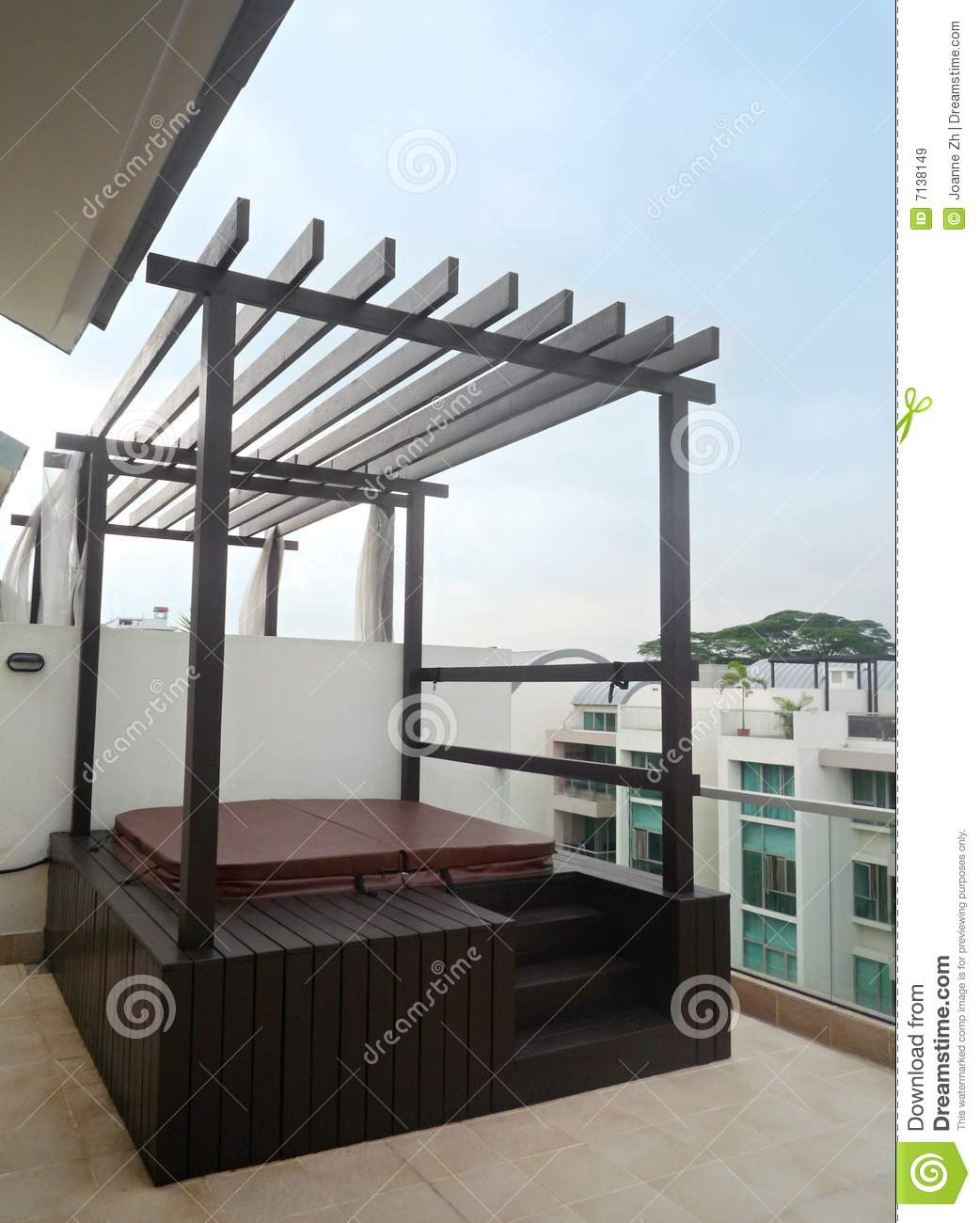 Jacuzzi On Roof Top Stock Image Image Of Building