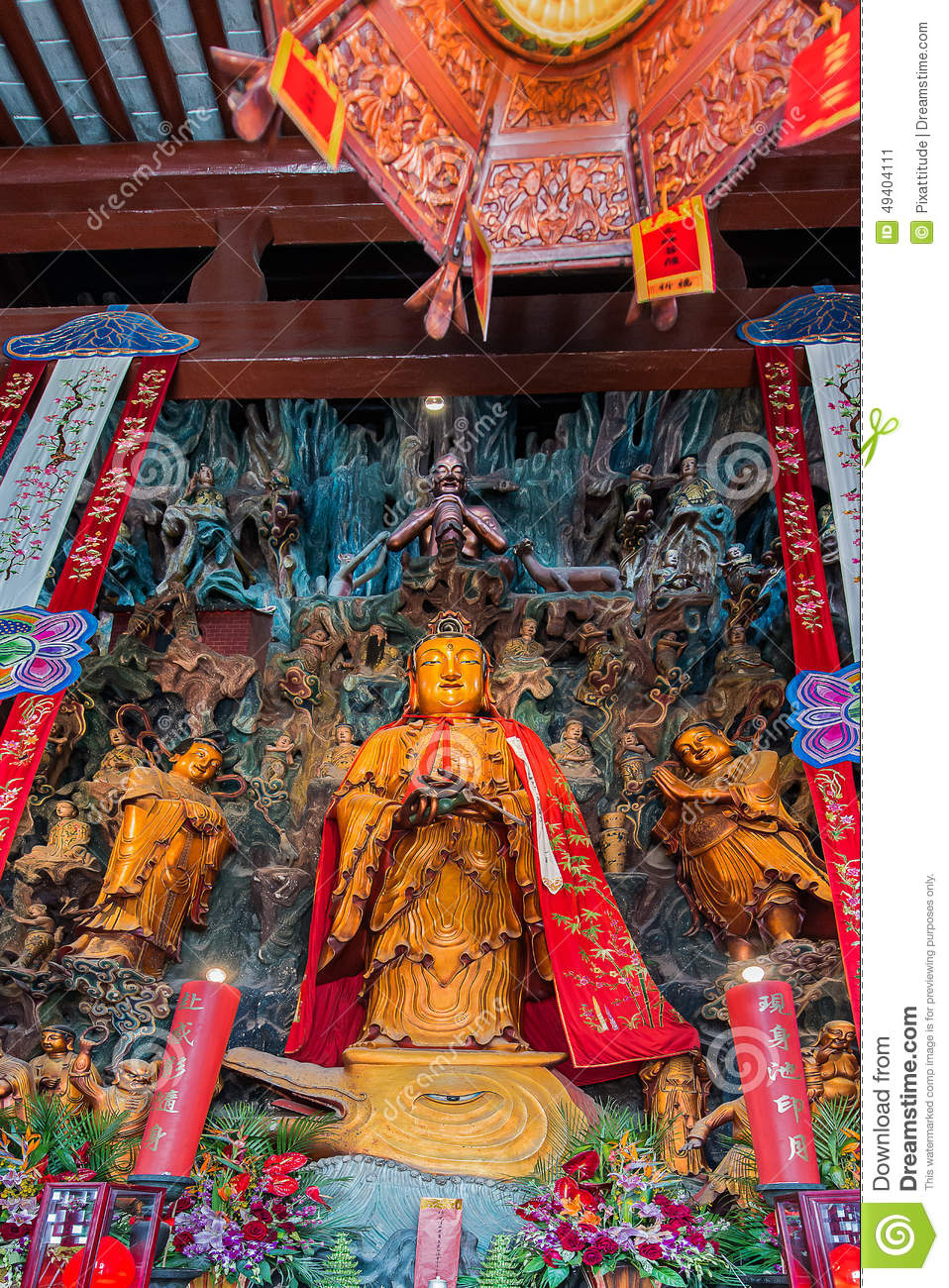 Download Jade Buddha Temple Shanghai China Stockbild - Bild von plätze, religionen: 49404111