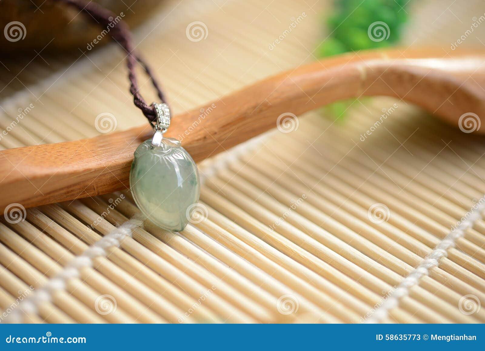 Jade Pendant Of Water Drop Style Stock Image Image Of Bead Beauty